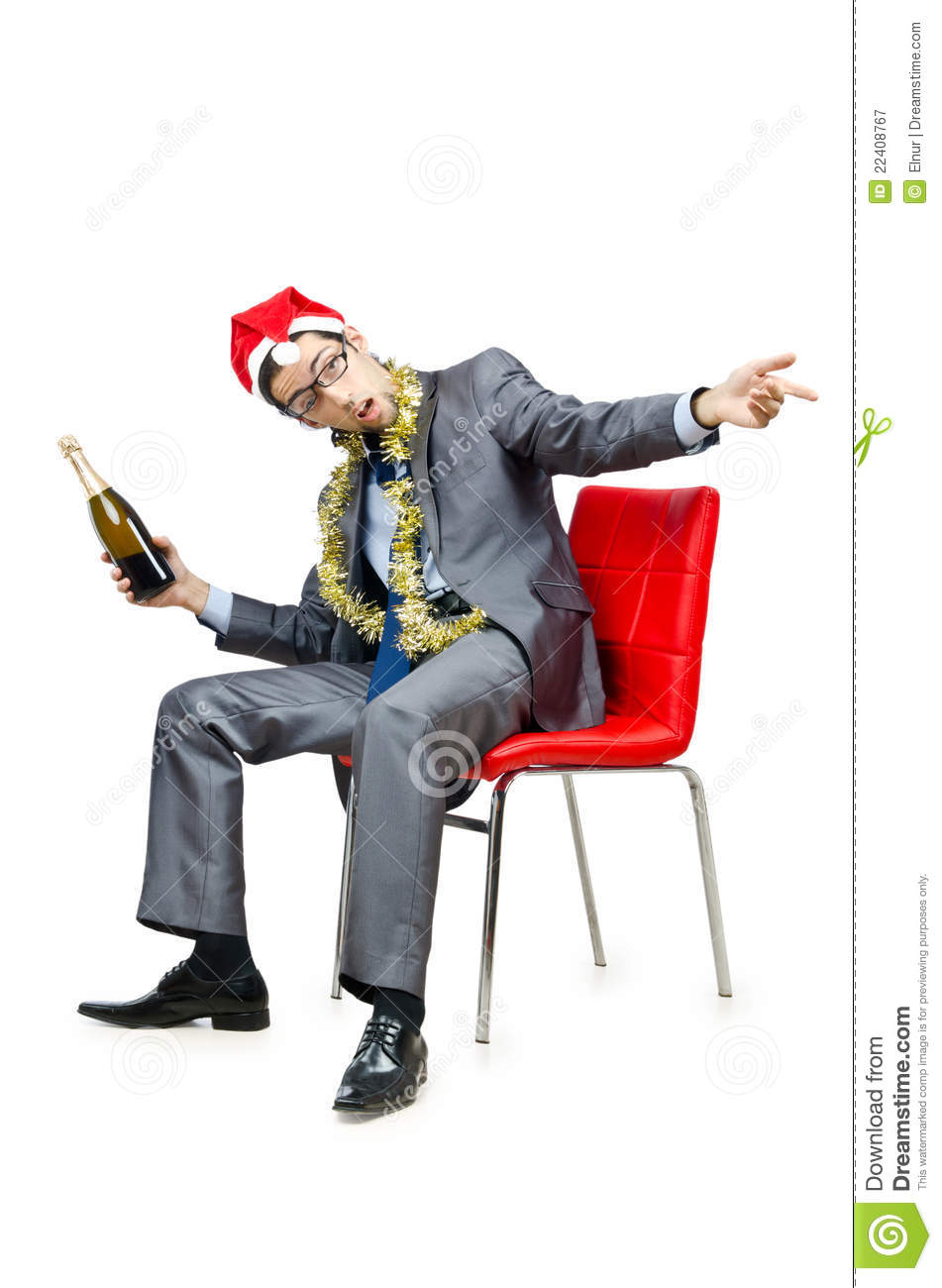 Drunk Office Worker After Christmas Party Royalty Free Stock ...