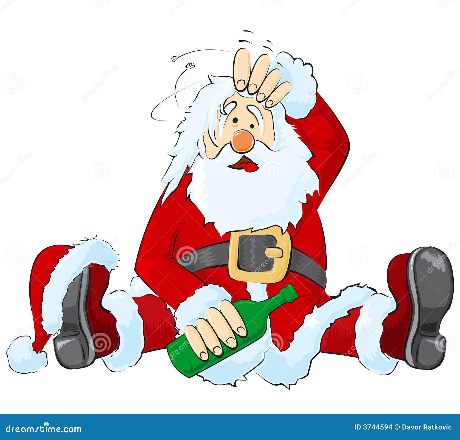 drunk santa stock images image 3744594