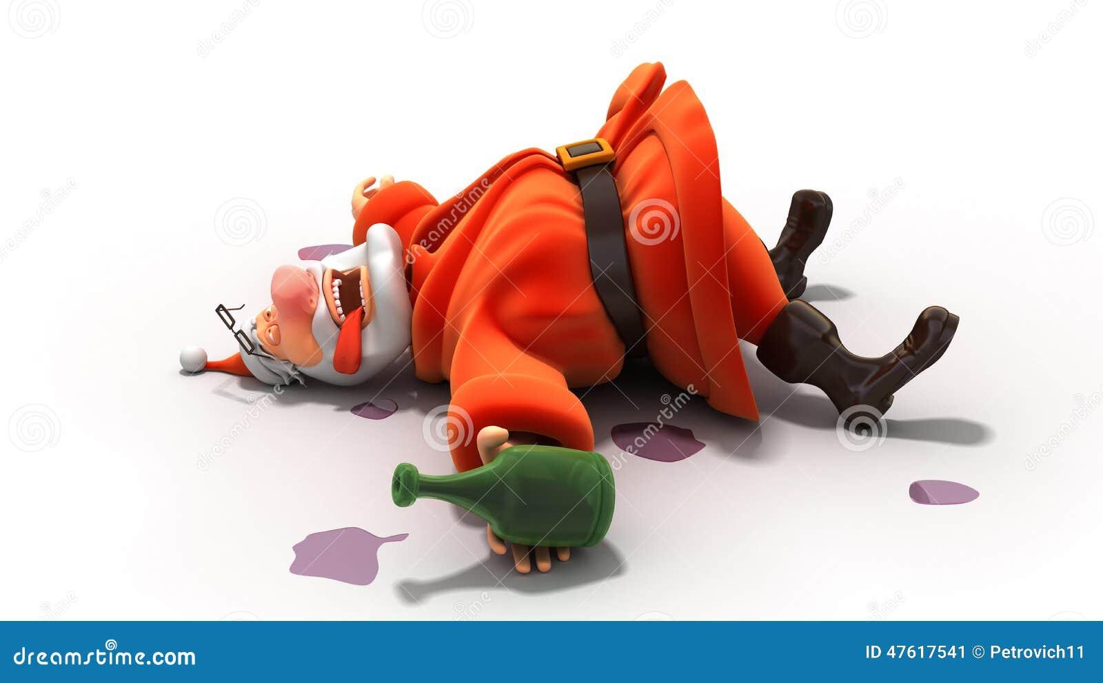 Drunk Santa Stock Illustration - Image: 47617541