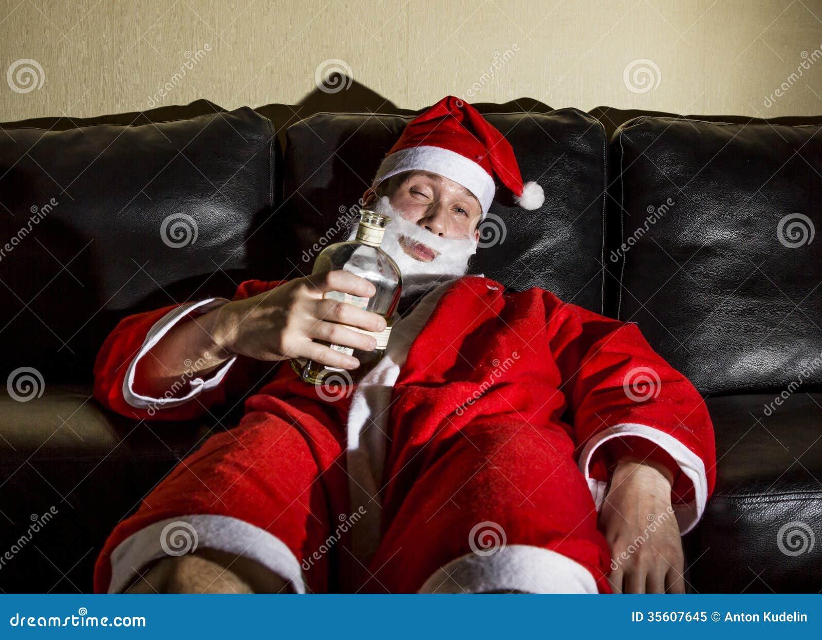 Drunk santa claus nothing