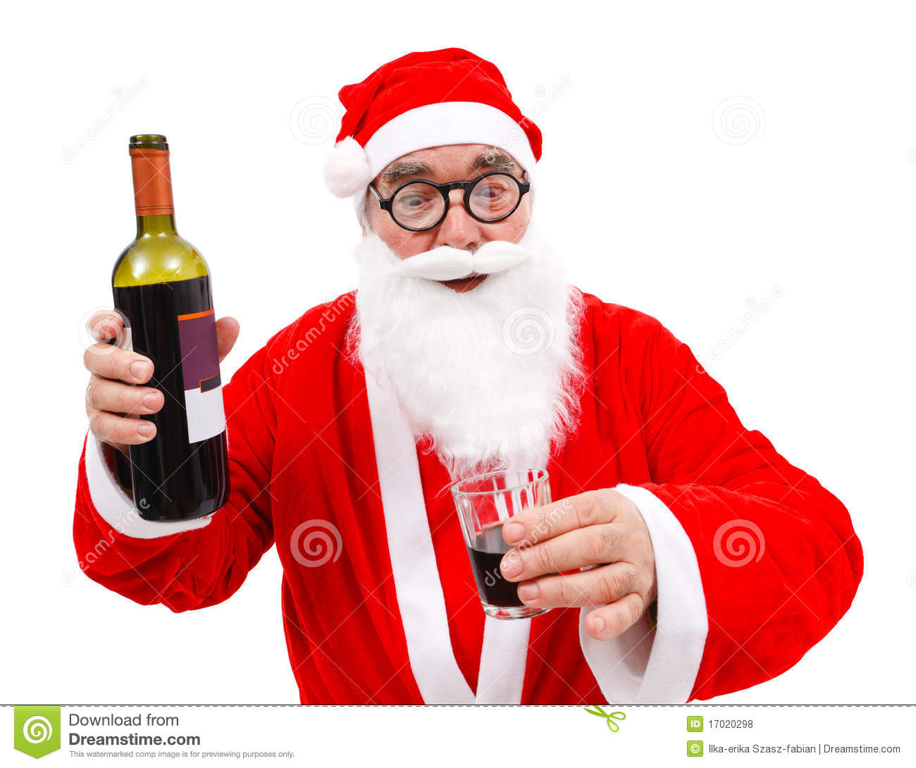 Mrs Claus Drinking A Beer