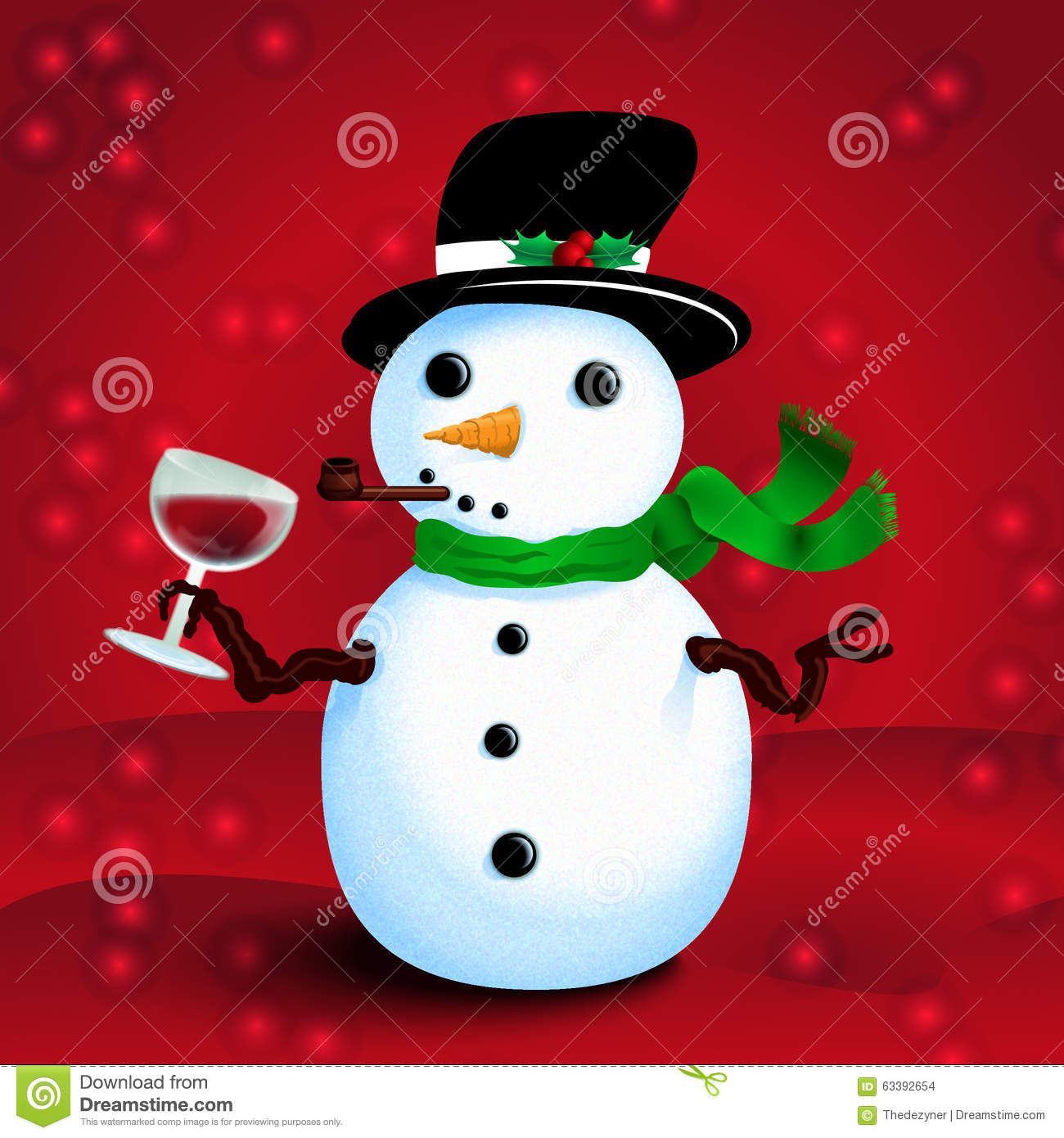 drunken snowman stock vector