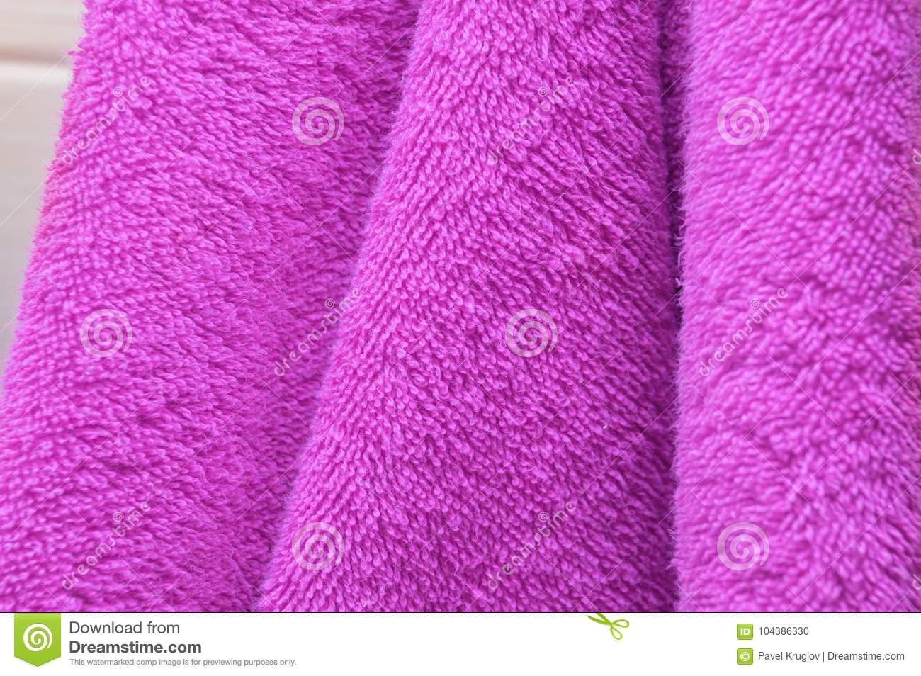 Sensational Dry Bath Towels Are Purple In The Bathroom Stock Photo Home Interior And Landscaping Ologienasavecom