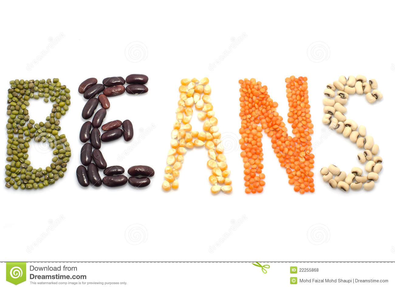 The Dry Beans Royalty Free Stock Photos - Image: 22255868