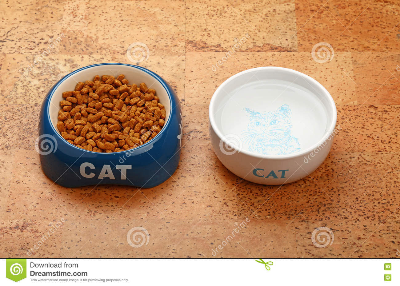 Put cat food on cock casually