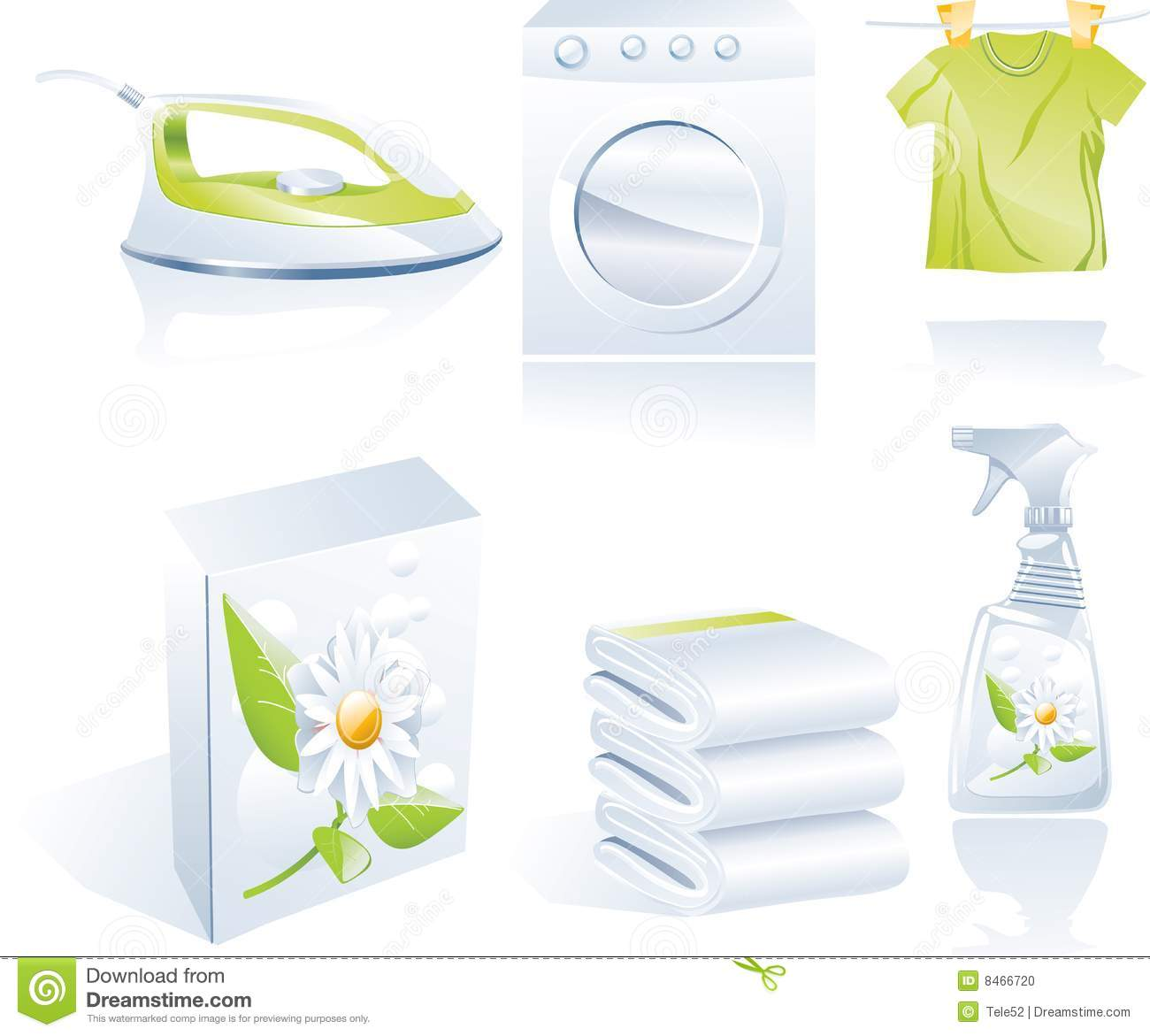 Dry cleaner s vector icon set
