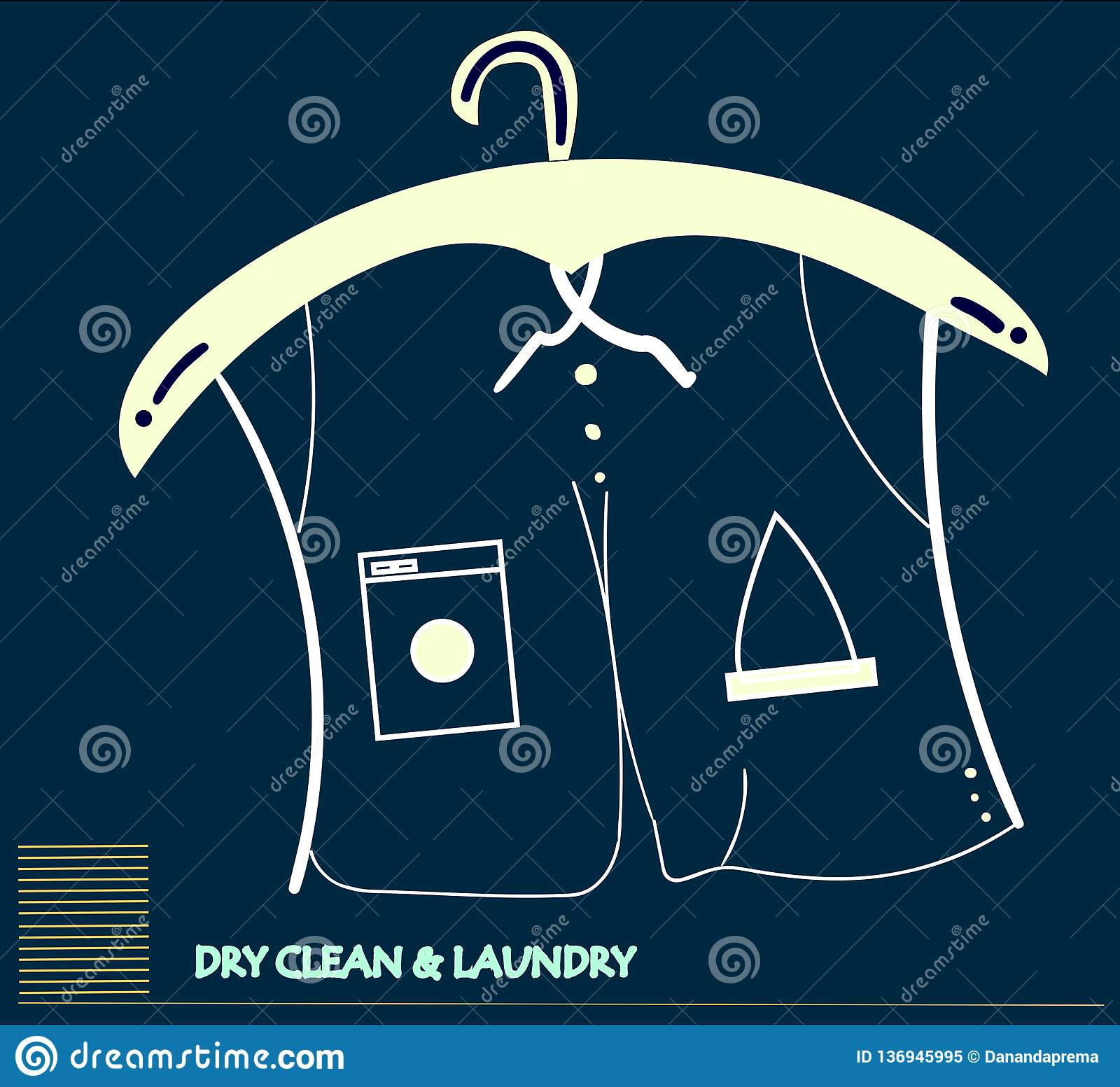 Dry cleaning service concept art
