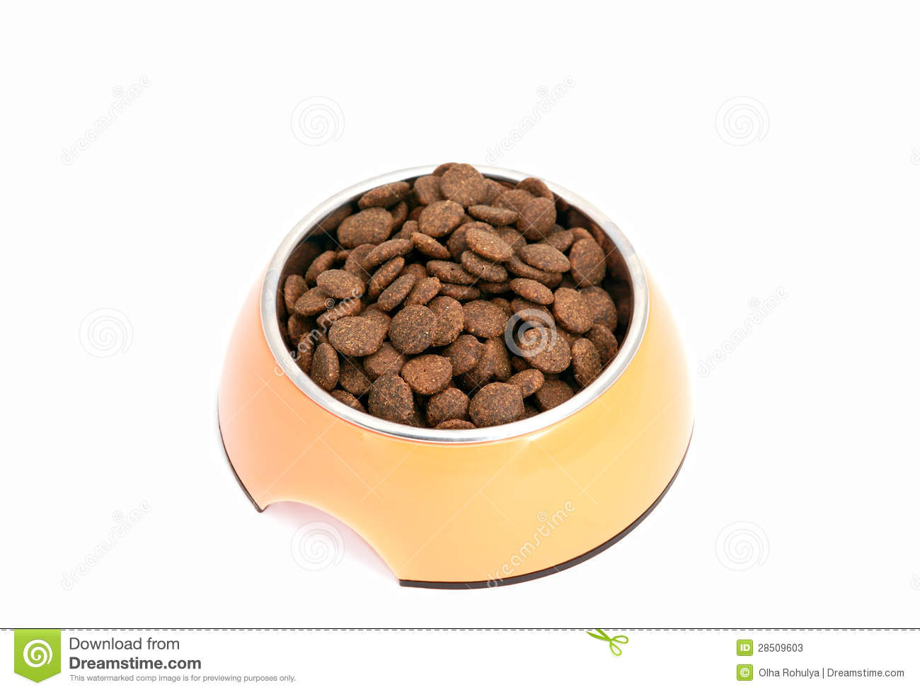 dry dog food in bowl stock photos image 28509603 healthy food vector icon Junk- Food
