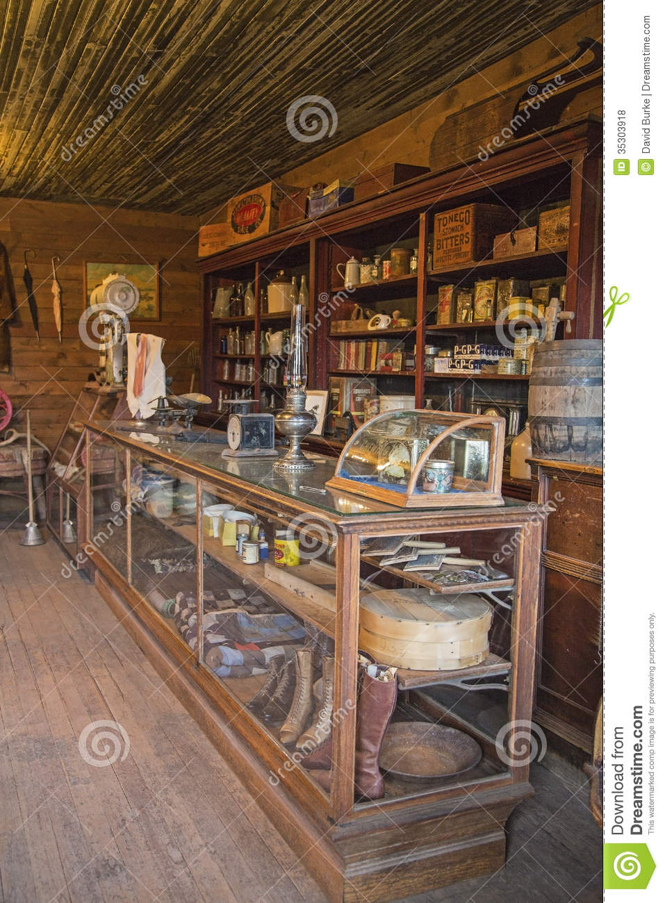 This rustic retail display and western town store sold everything from