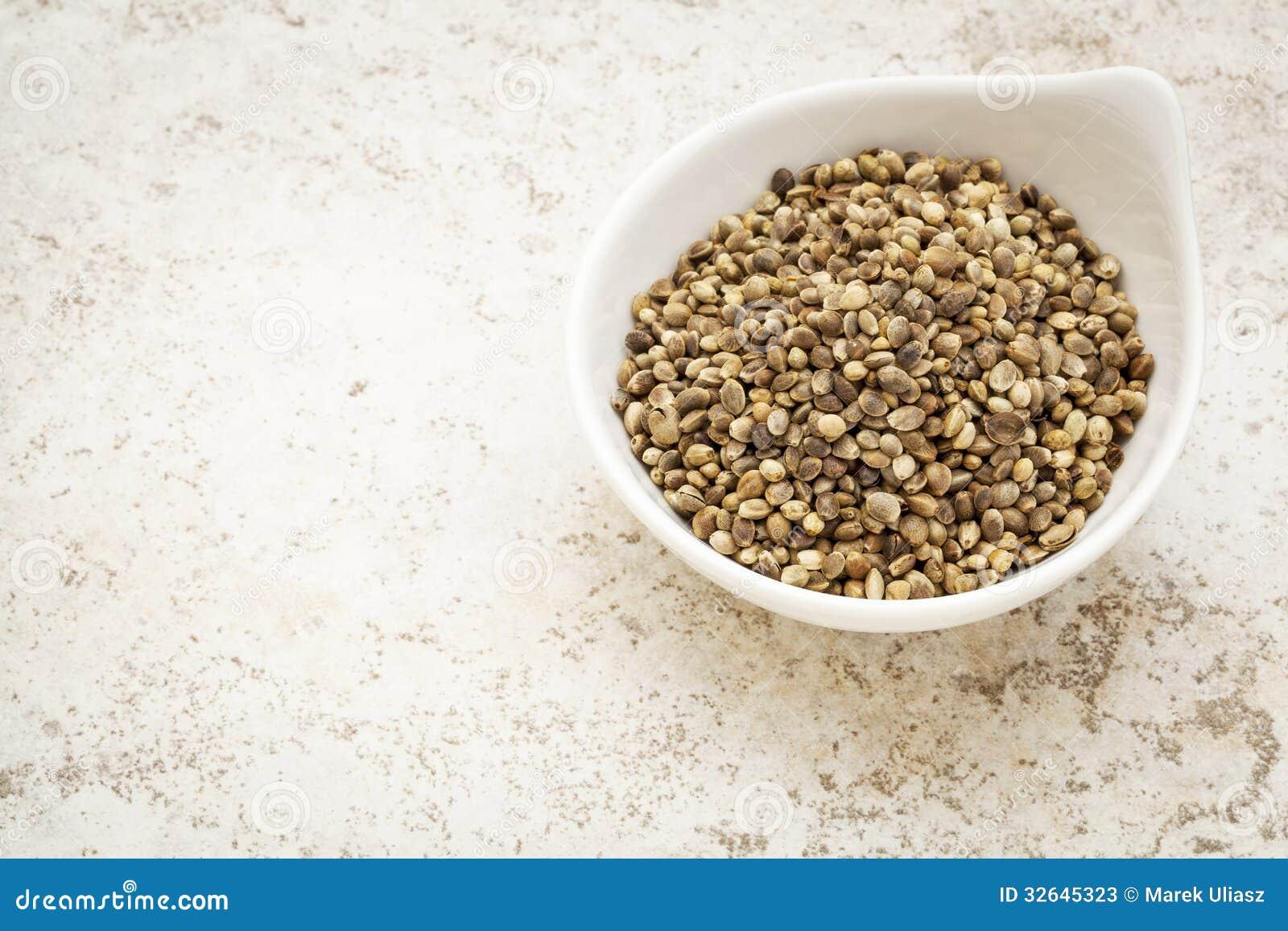 Dry hemp seed