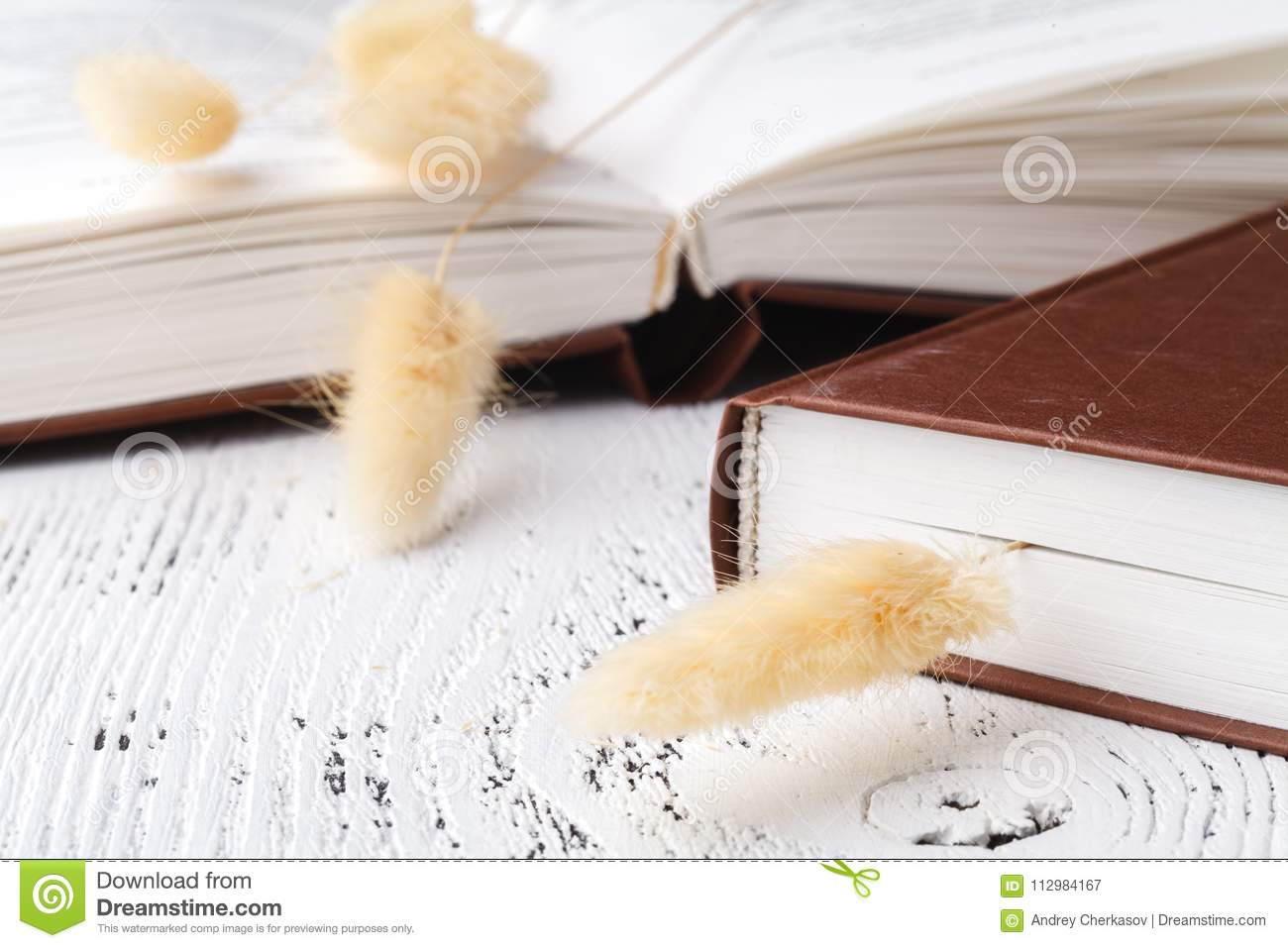 Dry herb on the books