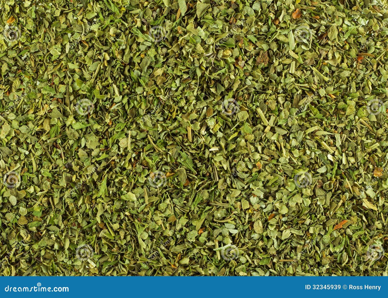 Dry Herbs Wonderful Texture Italian Vector