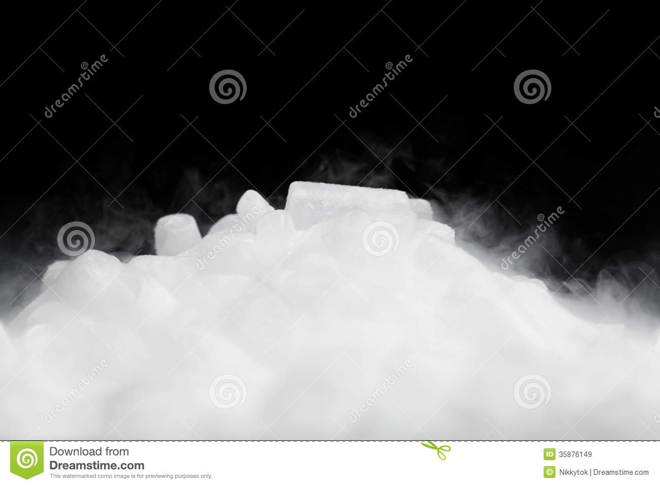 dry ice with vapor stock image  image of frozen  white