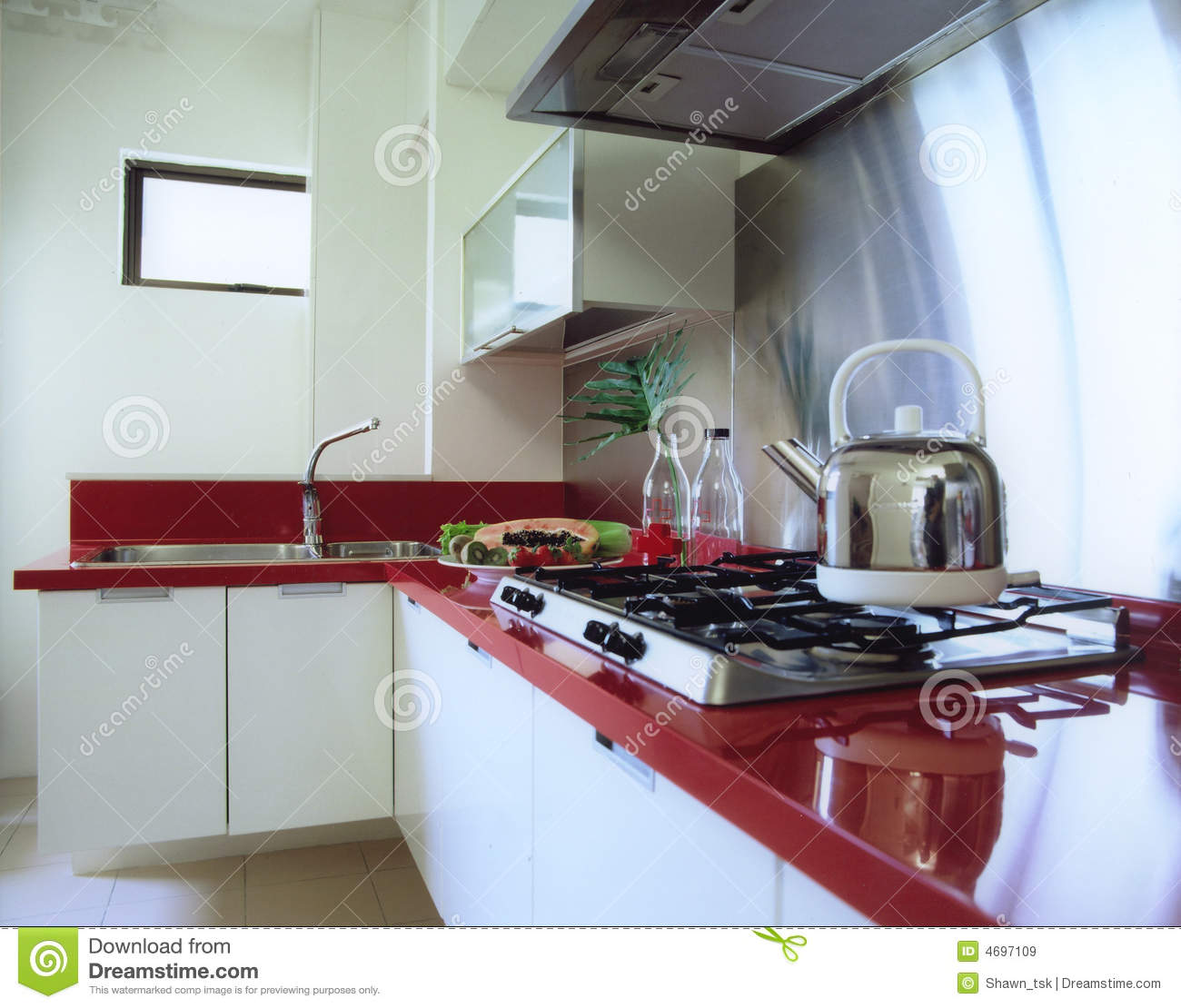 Dry And Wet Kitchen Design Photos: Dry Kitchen Stock Image. Image Of Ceiling, Cabinets