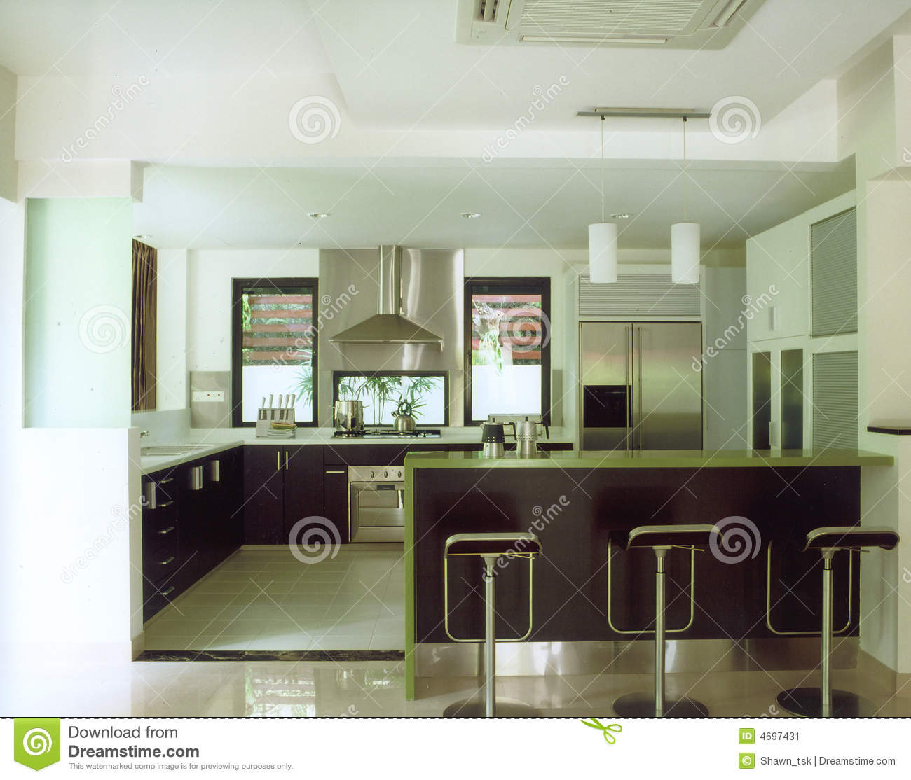 Dry And Wet Kitchen Design Photos: Dry Kitchen Stock Image. Image Of Contemporary, Interior