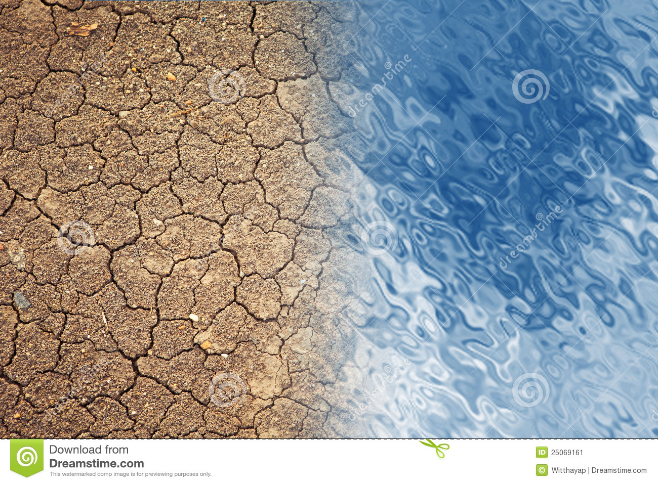 Dry Land And Water Stock Image Image 25069161