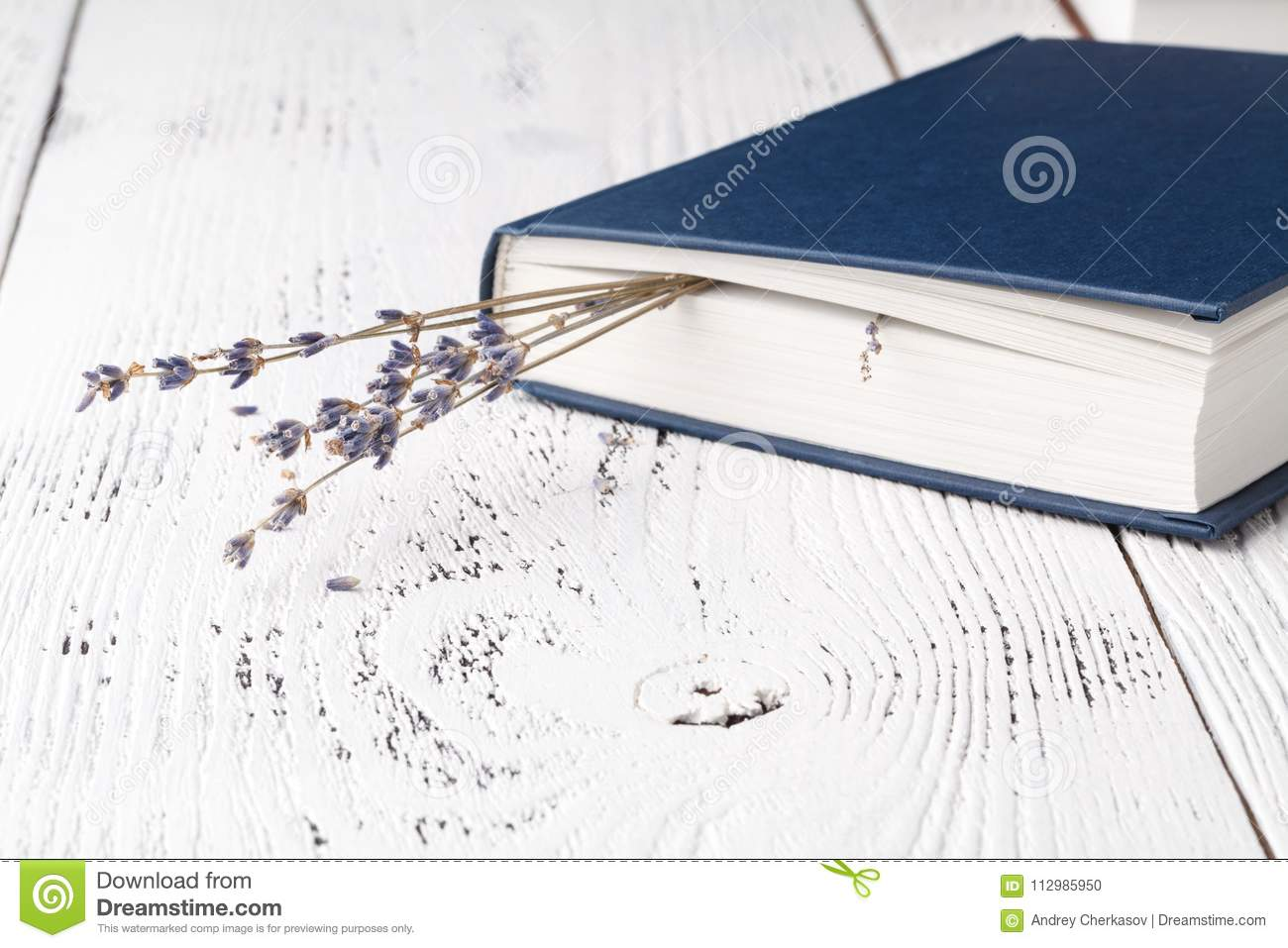 Dry lavender in the book