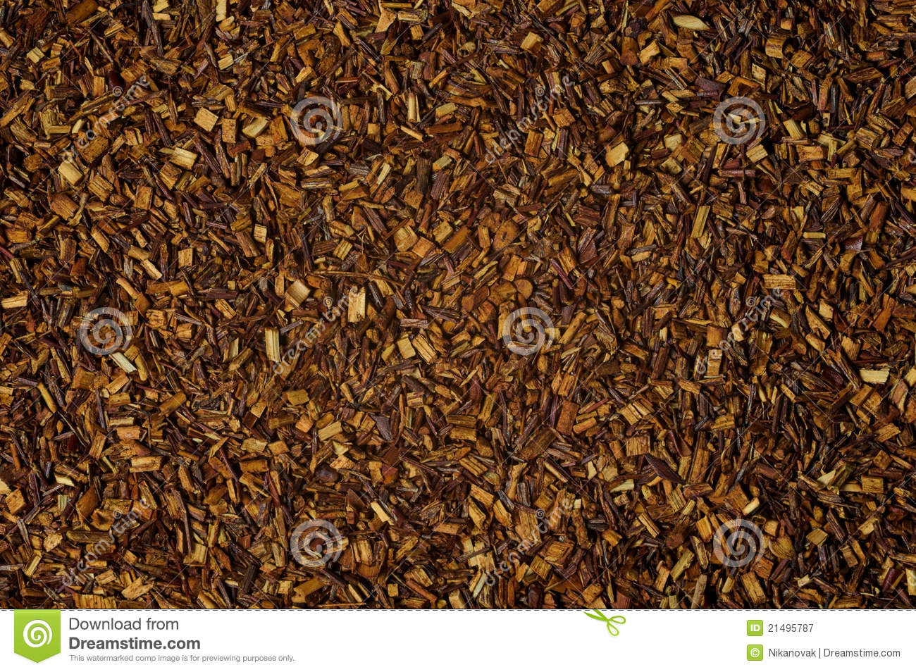 Dry Loose Rooibos Red Tea Texture Background Stock Image