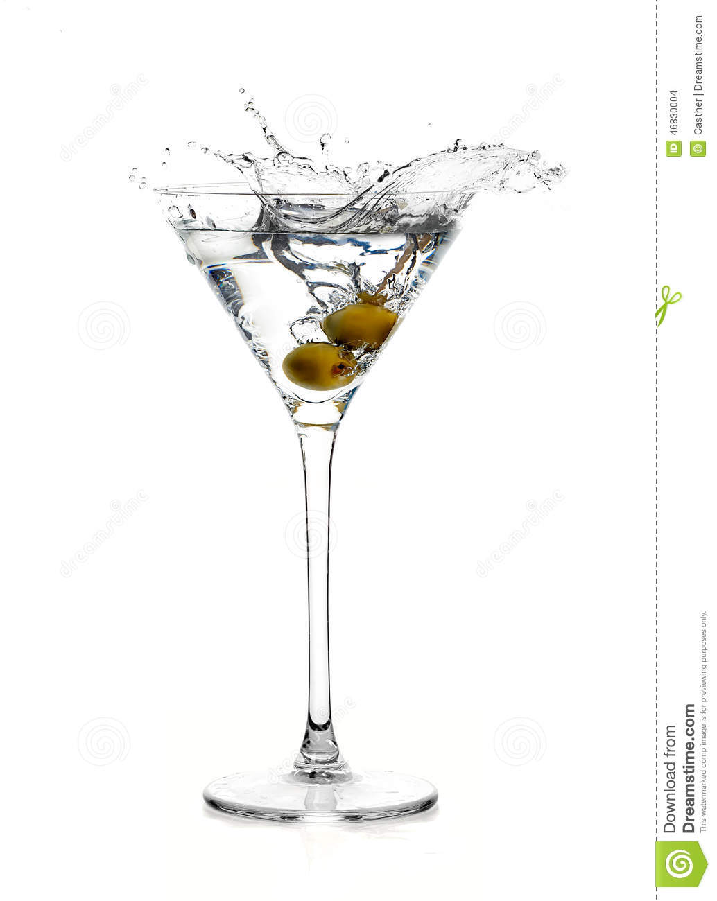 Dry martini cocktail splash stock photo image 46830004 for Cocktail martini
