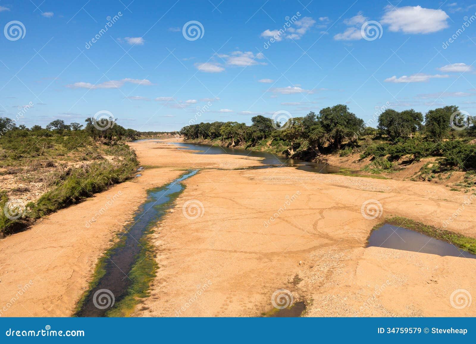 Dry river bed in Kruger National Park
