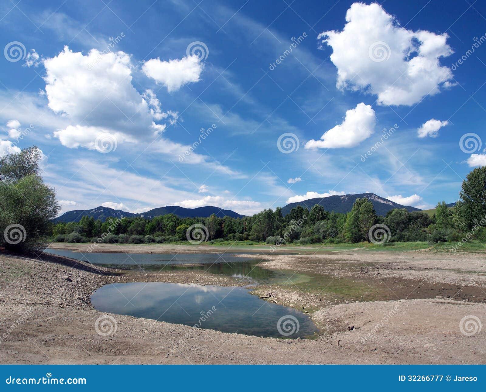 Dry shore in summer