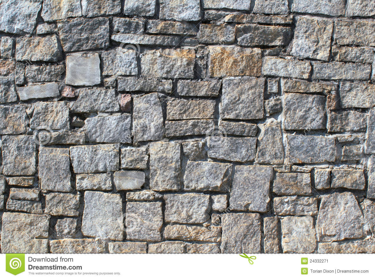 Dry Stack Stone Wall Stock Image Image Of Texture Rough