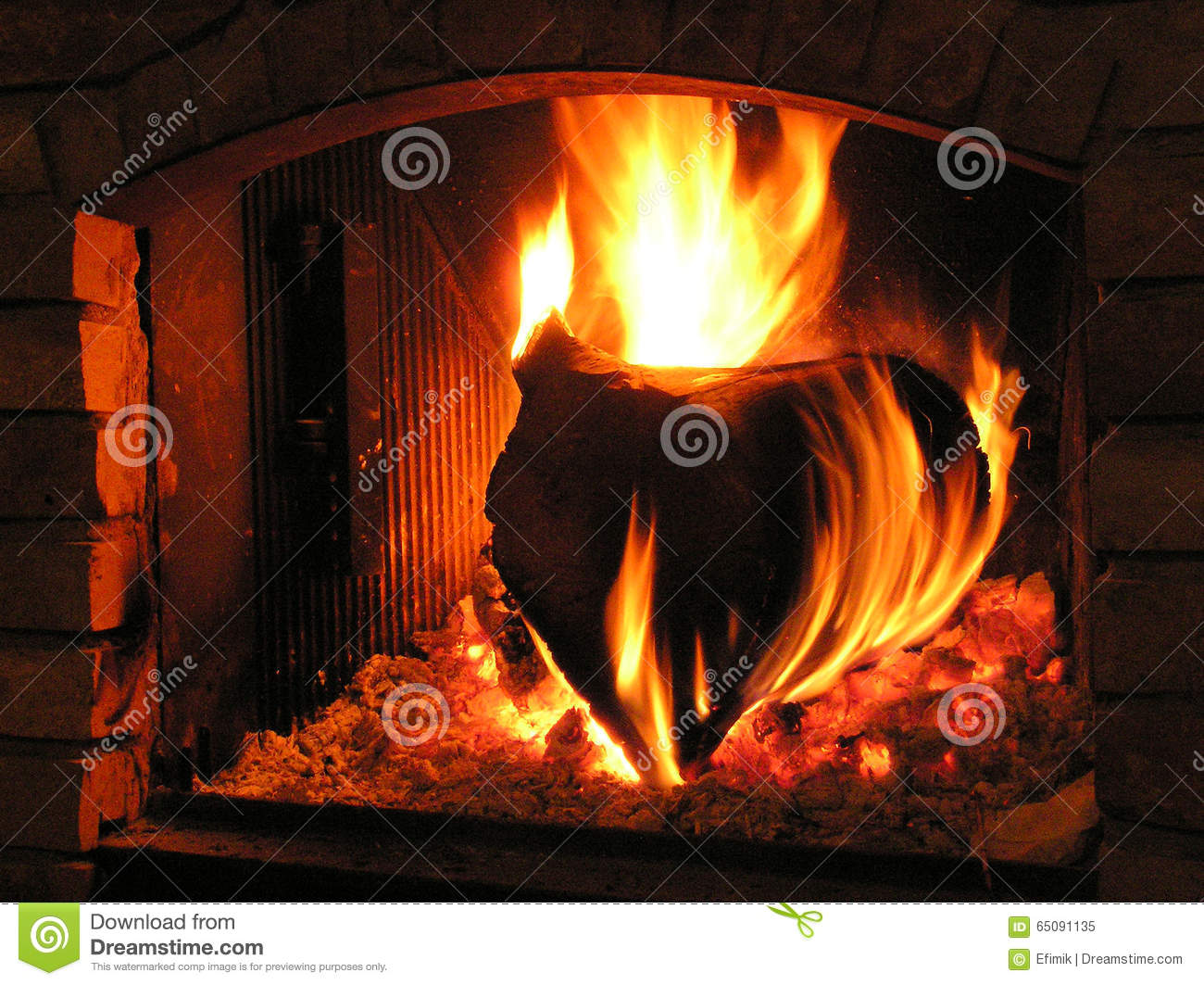 dry wood burning in a fireplace stock photo image 65091135