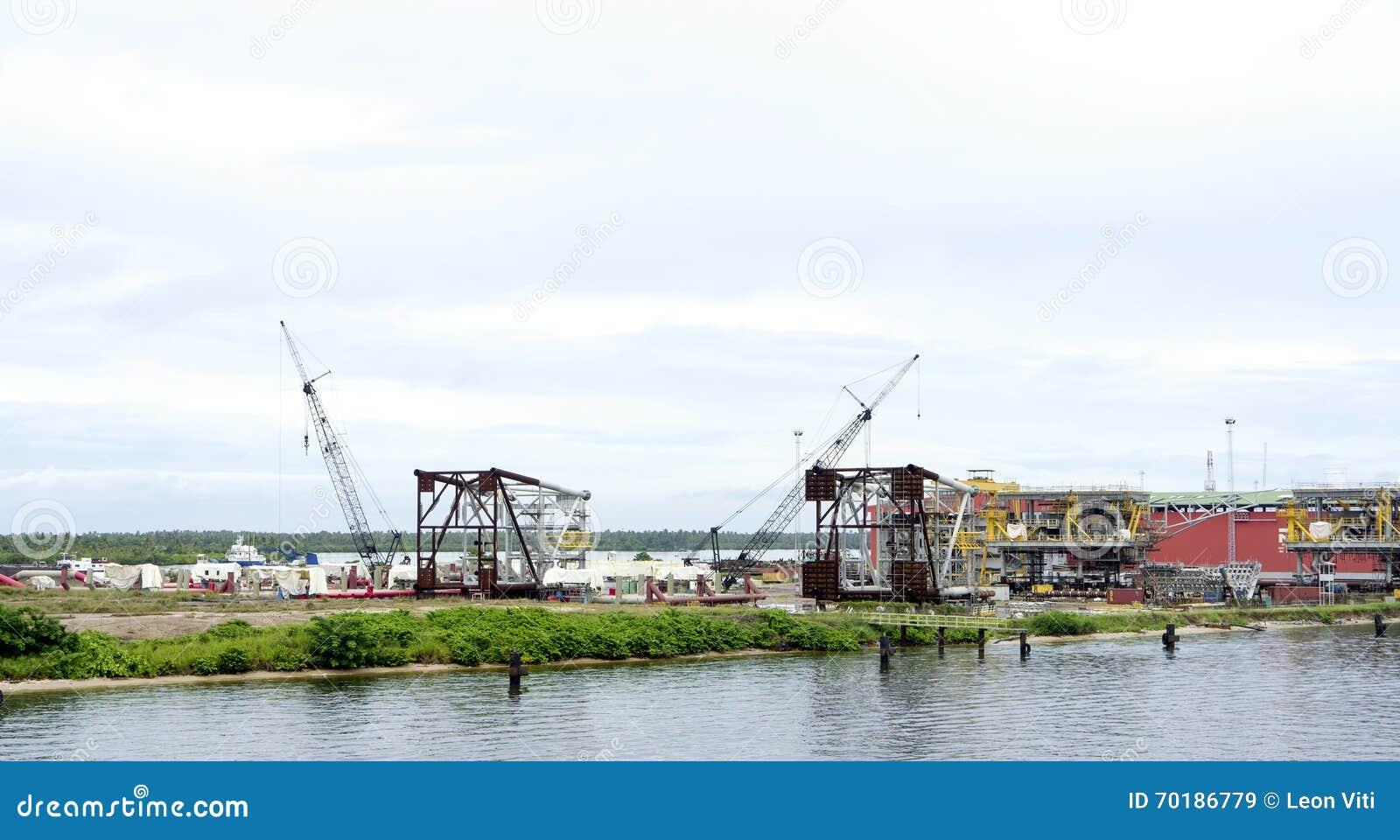 Drydock på floden Niger