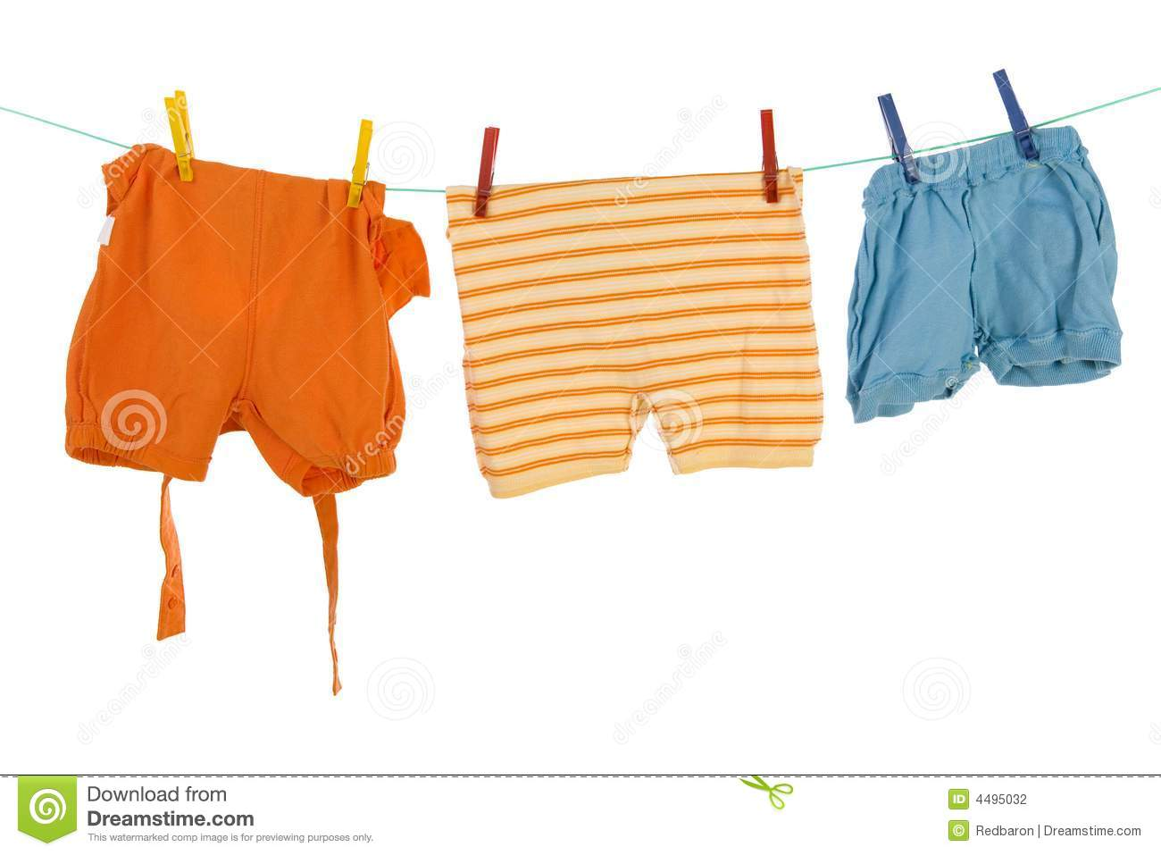 Drying baby clothes stock photo Image of wear isolated