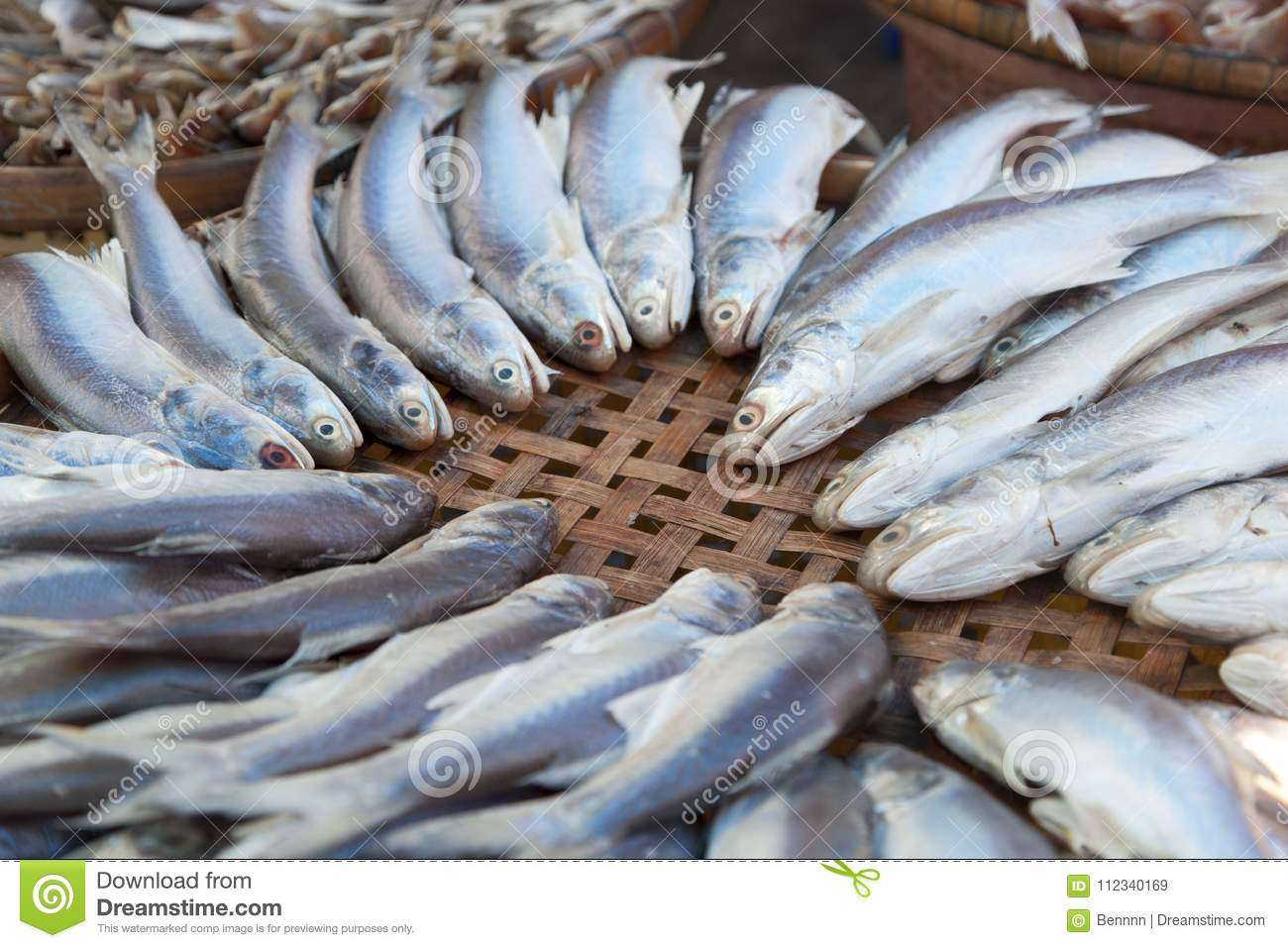 Drying Fish In The Sun For Food Preservation Stock Image Image Of Nature Ingredient 112340169