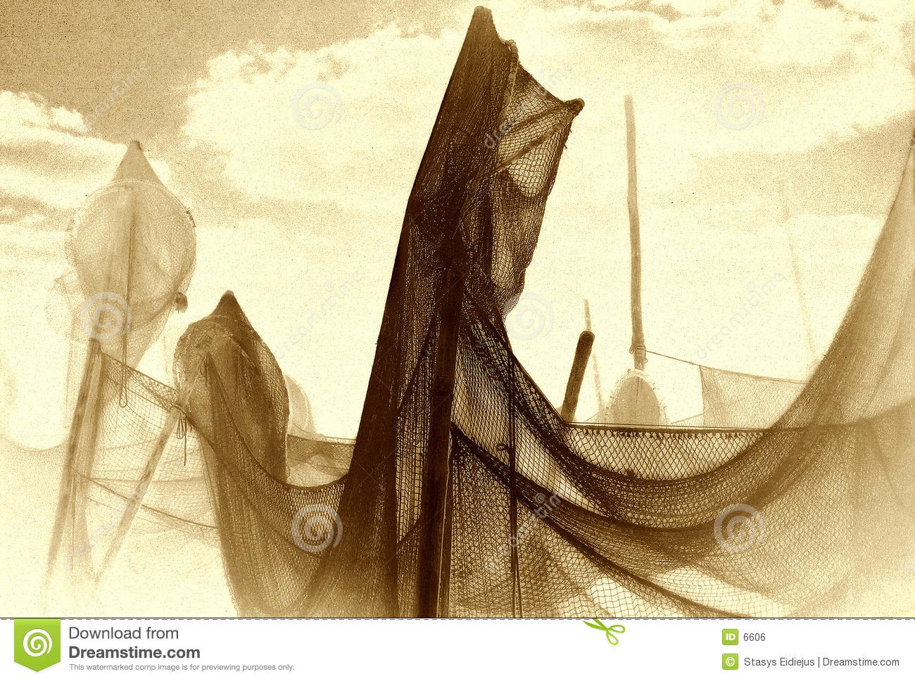 Drying the net