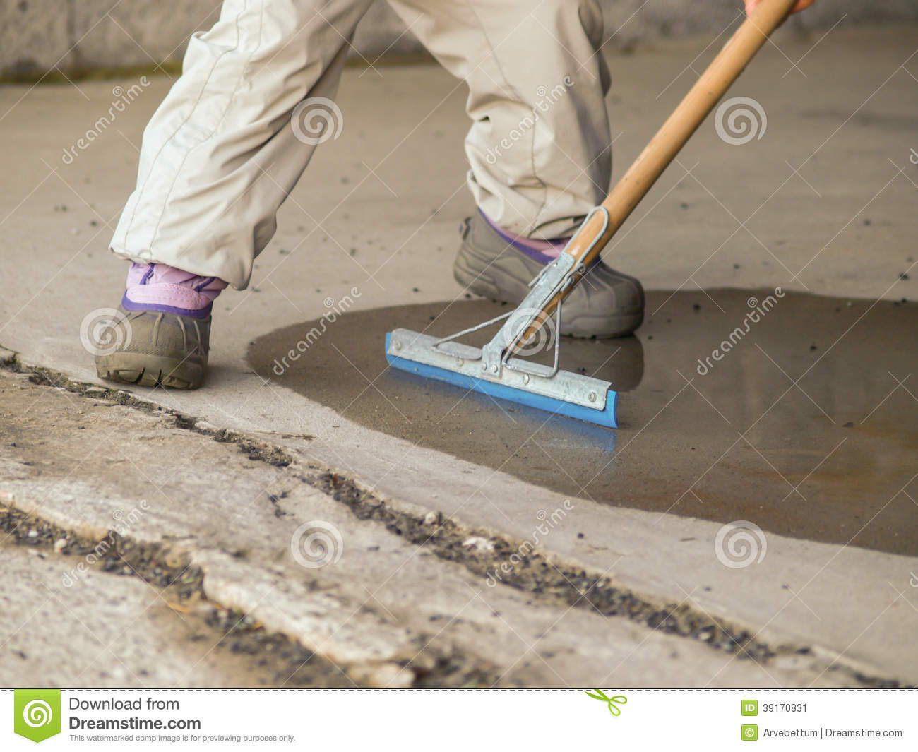 Drying up stock photo image 39170831 for How to mop concrete floor