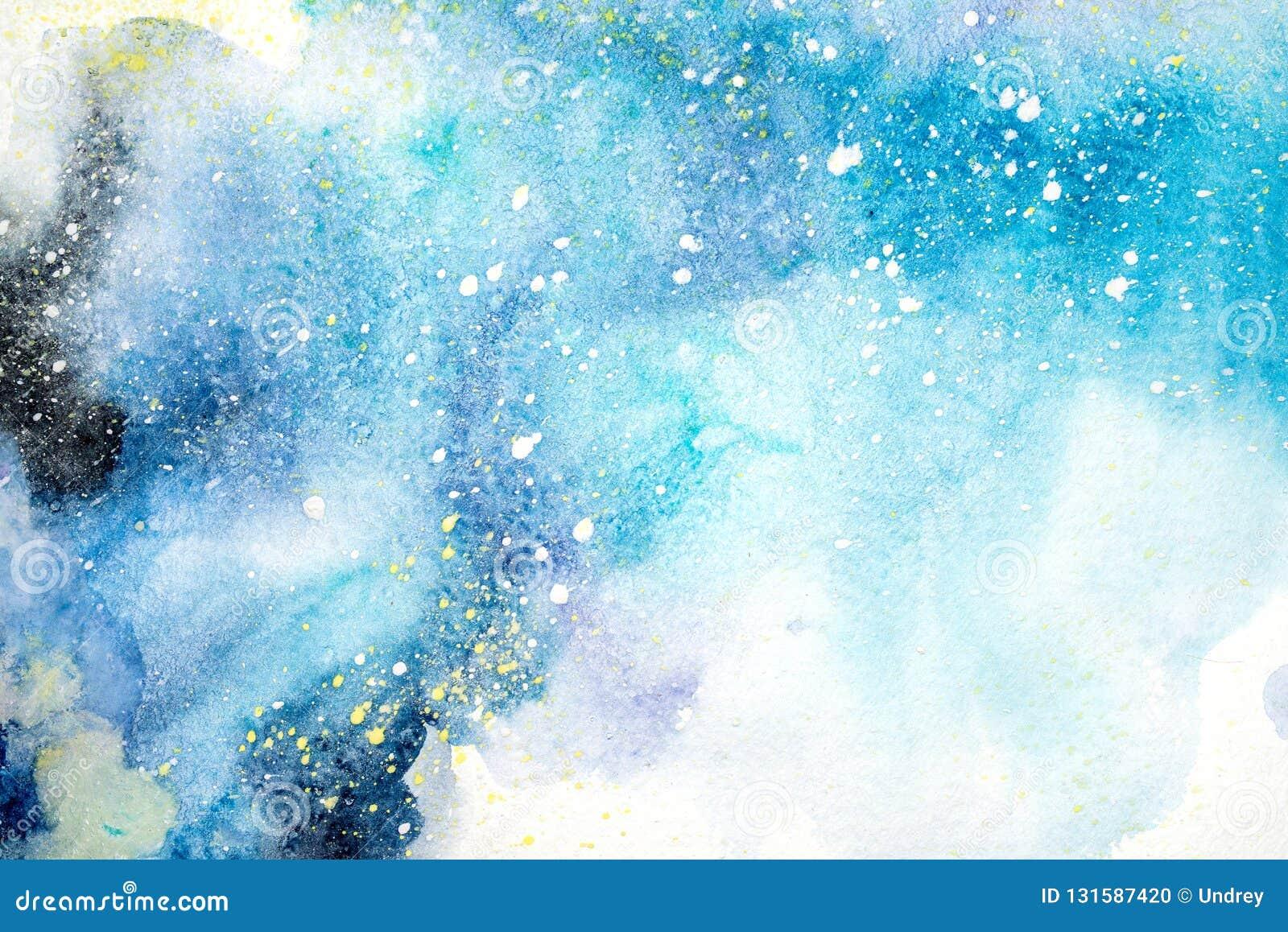 Dryper blå rosa purpurfärgad röd fläck för den ljusa vattenfärgen klickar abstrakt illustration