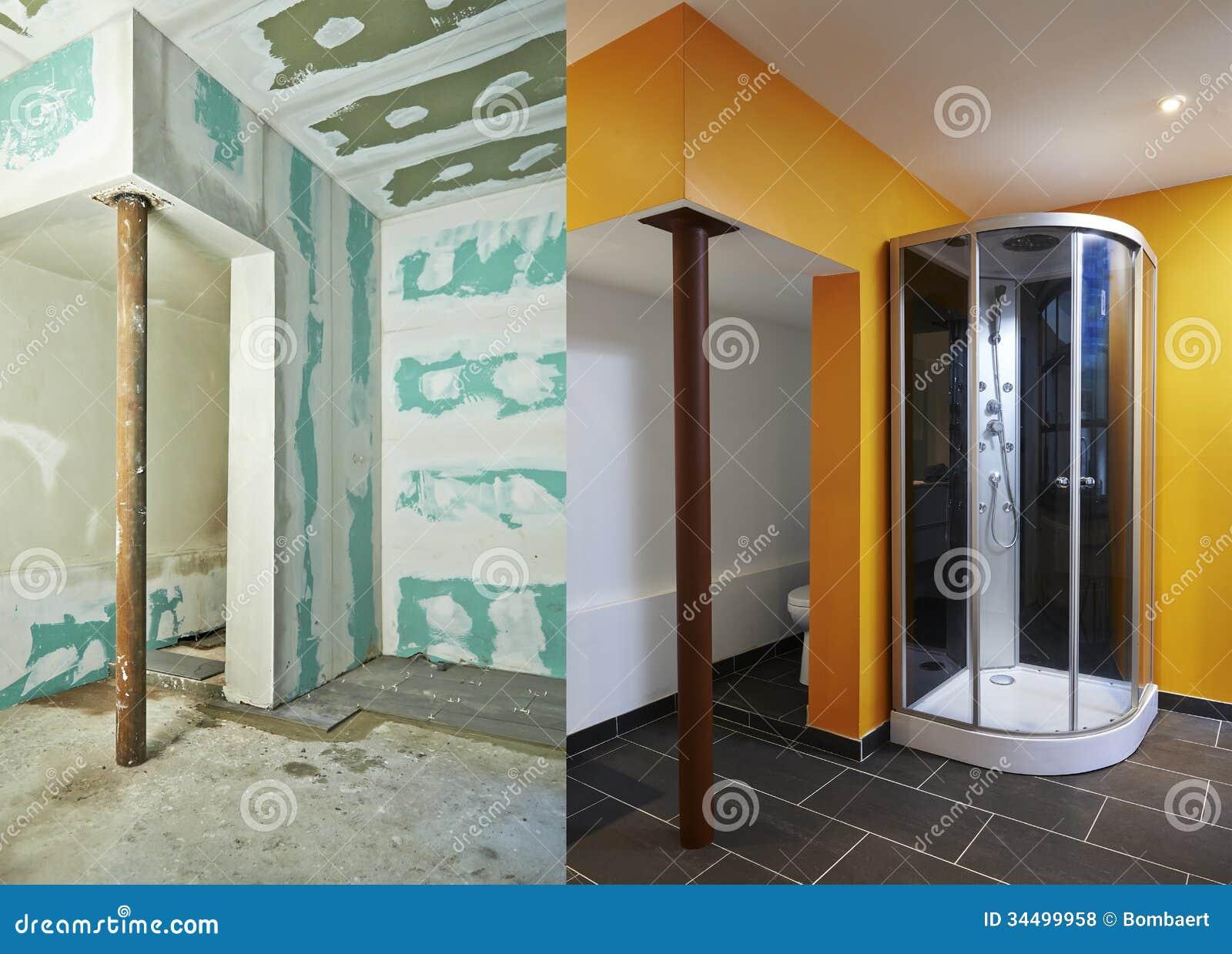 Drywall placa De Gesso E Banheiro Fotos de Stock Royalty Free Imagem  #A87B23 1300 1024