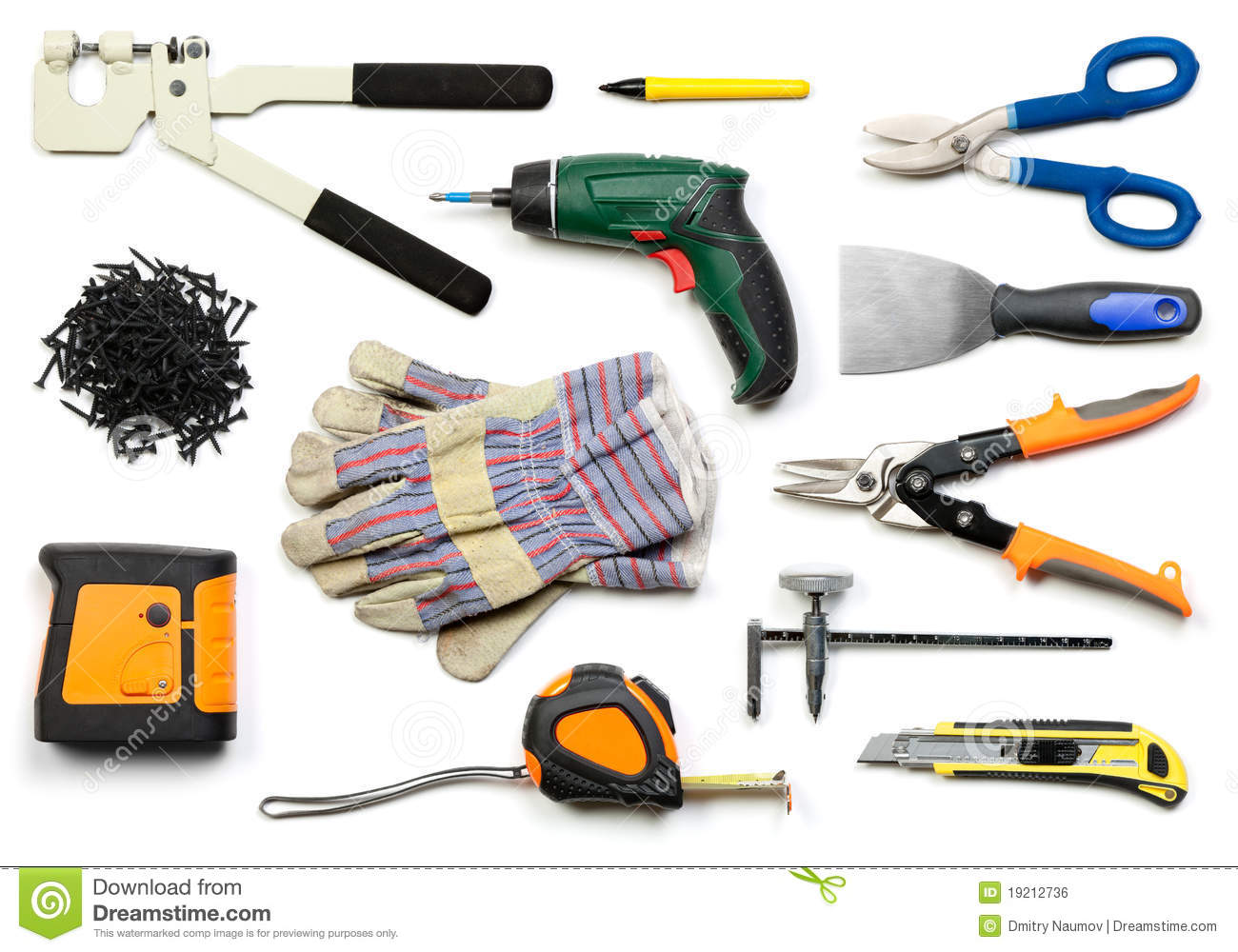 Drywall Tools Isolated Royalty Free Stock Image Image