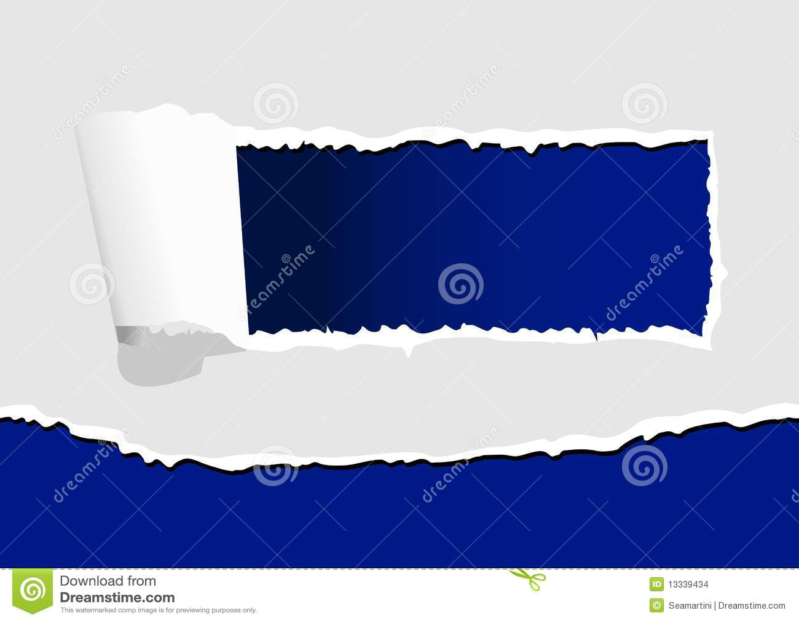 Drzejący dziura papier