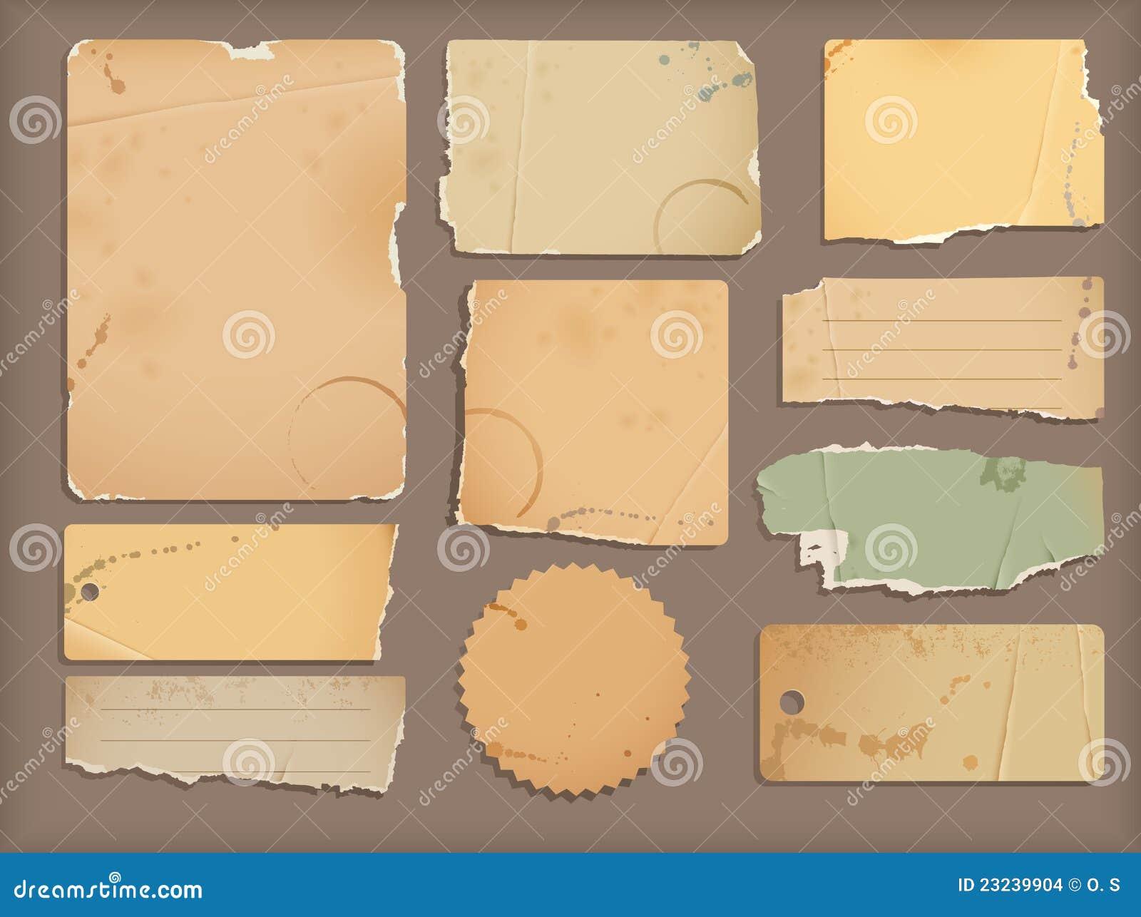 Drzejący stary papier