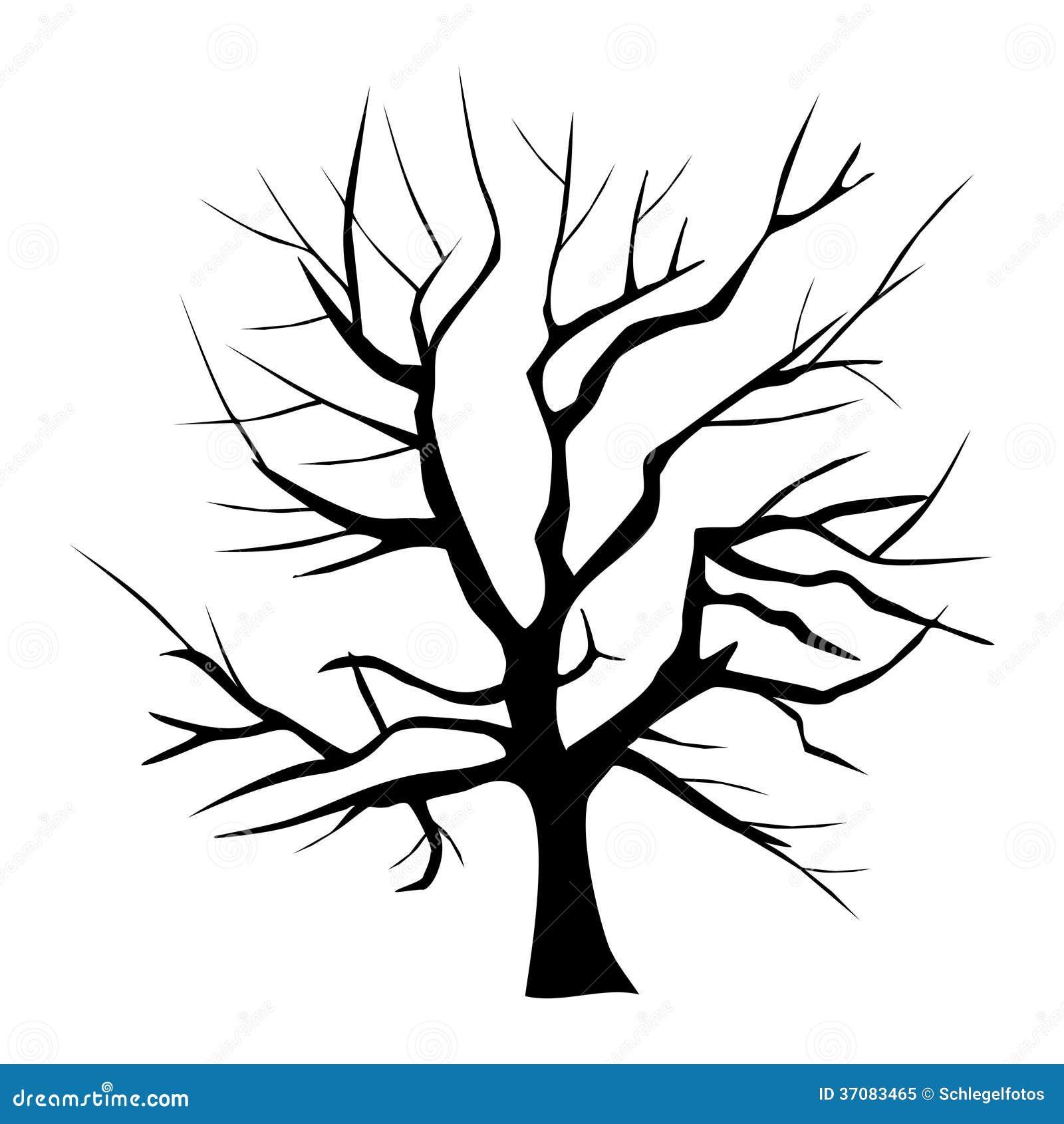 Download Drzewna Sylwetka Odizolowywająca Ilustracji - Ilustracja złożonej z jesienny, arte: 37083465