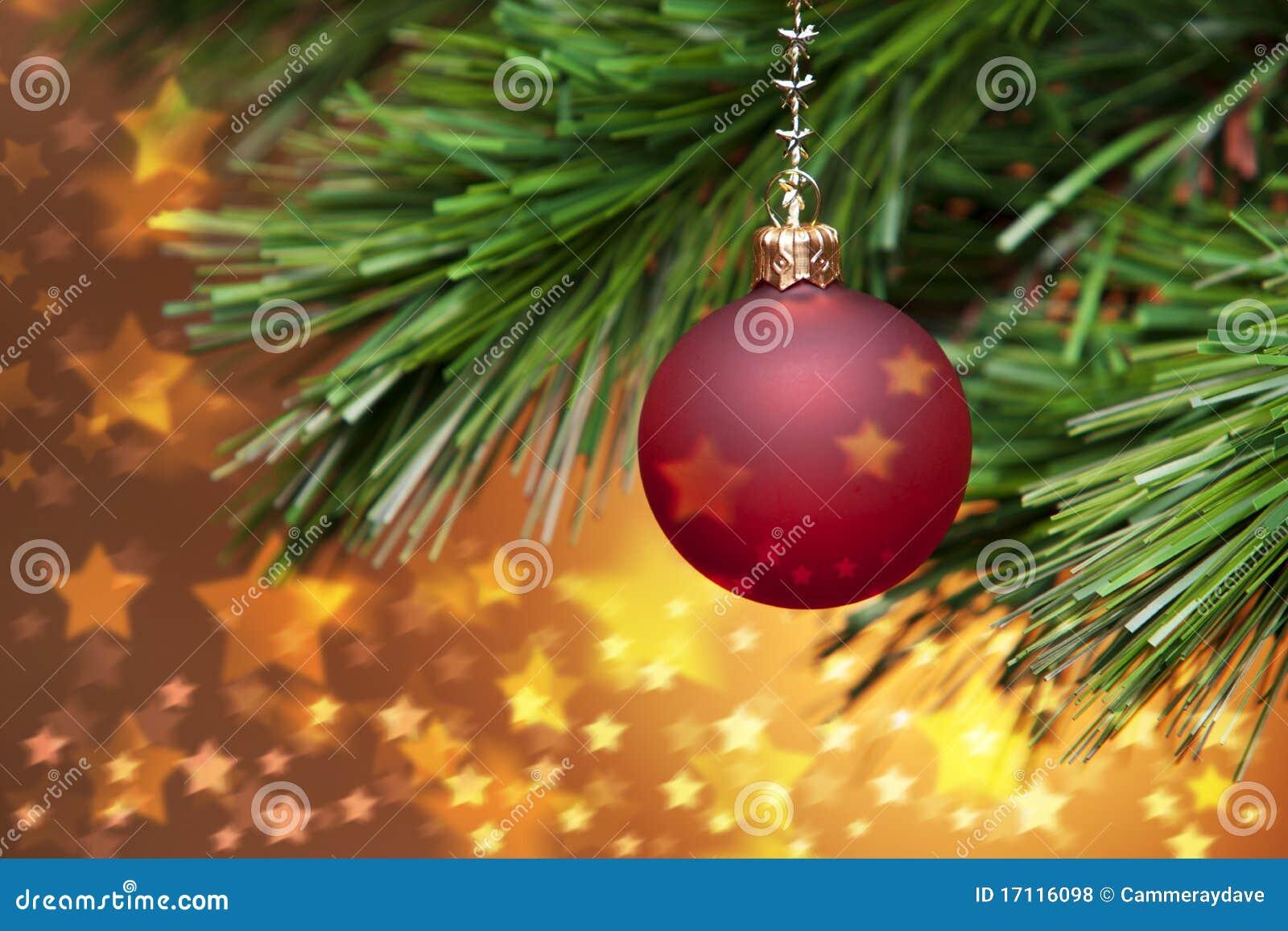 Drzewne złote Boże Narodzenie gwiazdy