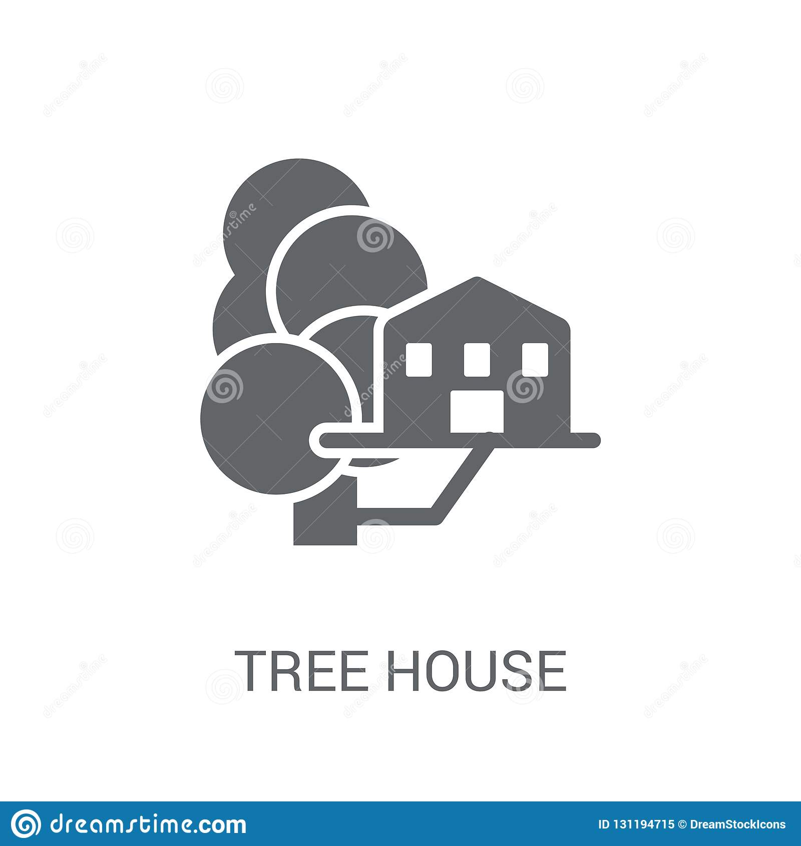 Drzewnego domu ikona