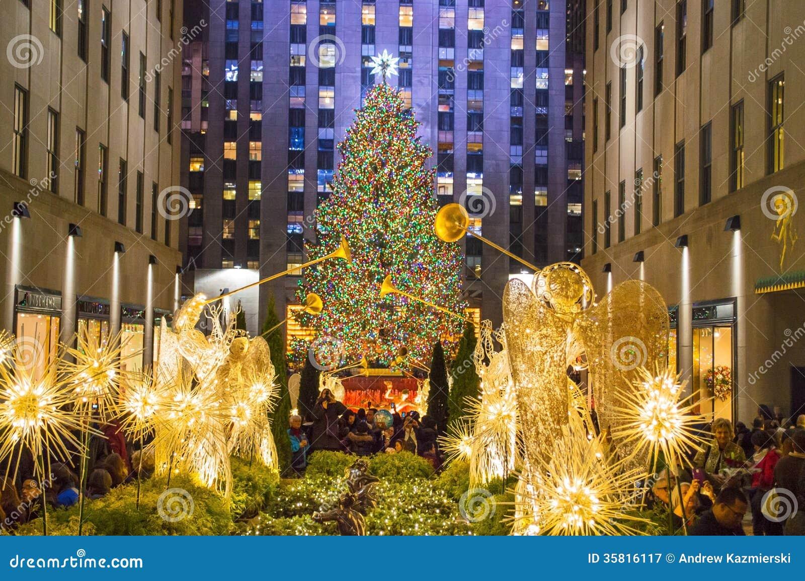 Drzewny światła Rockefeller centrum