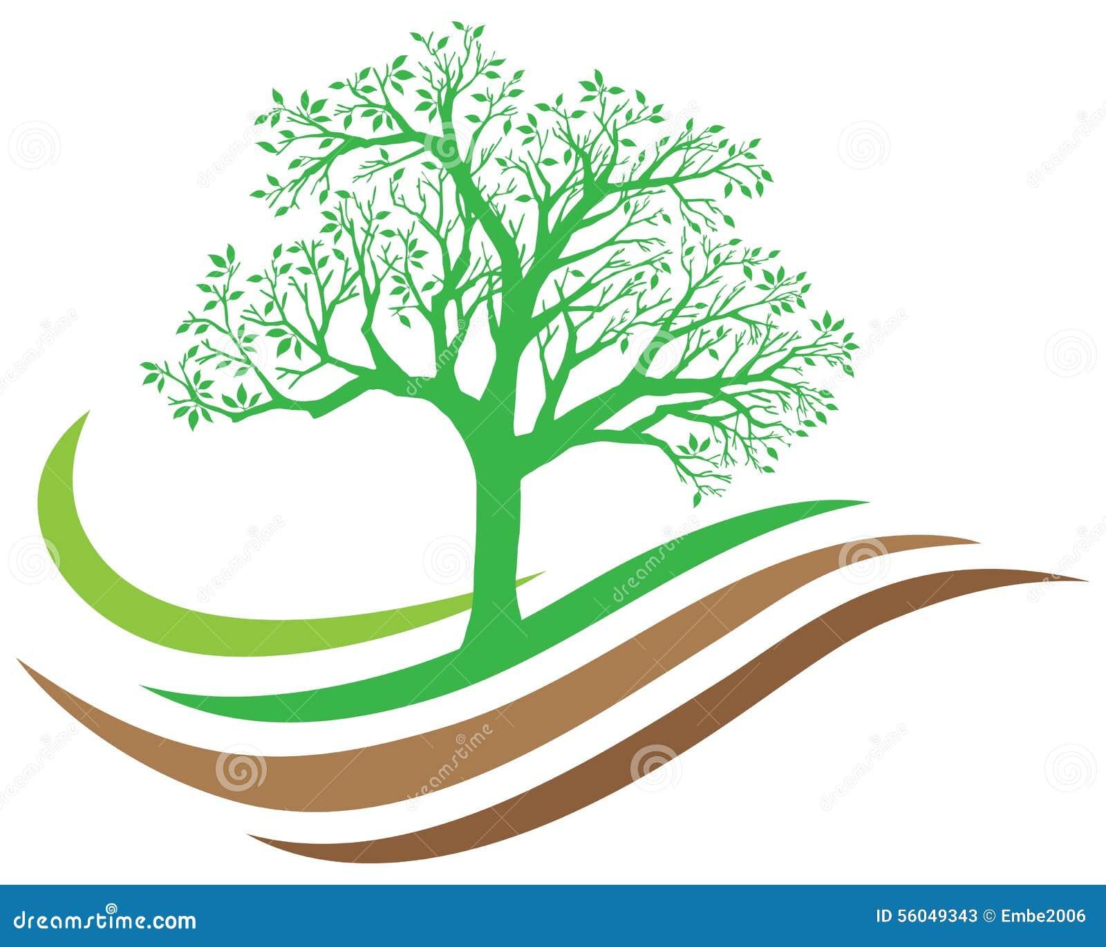 Drzewny natura logo