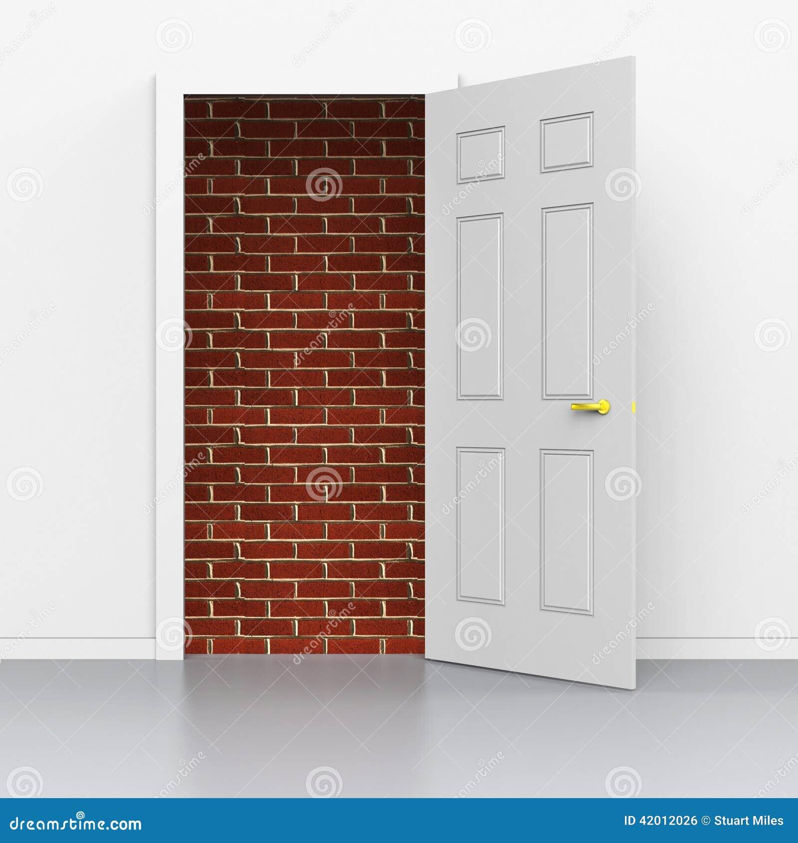 Drzwi drzwi przedstawienia Pokonują problemy I barierę