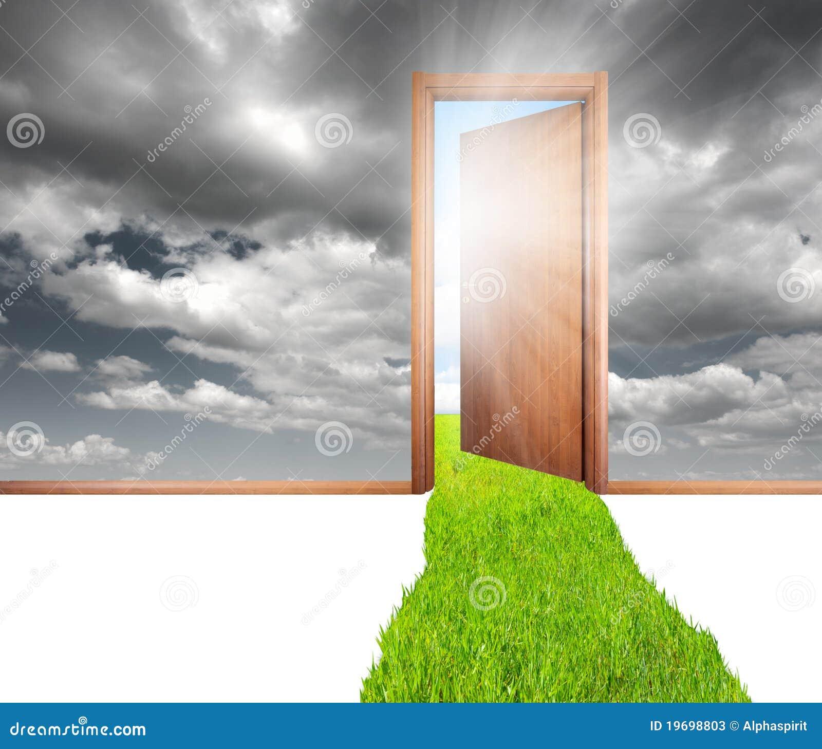 Drzwi zieleń