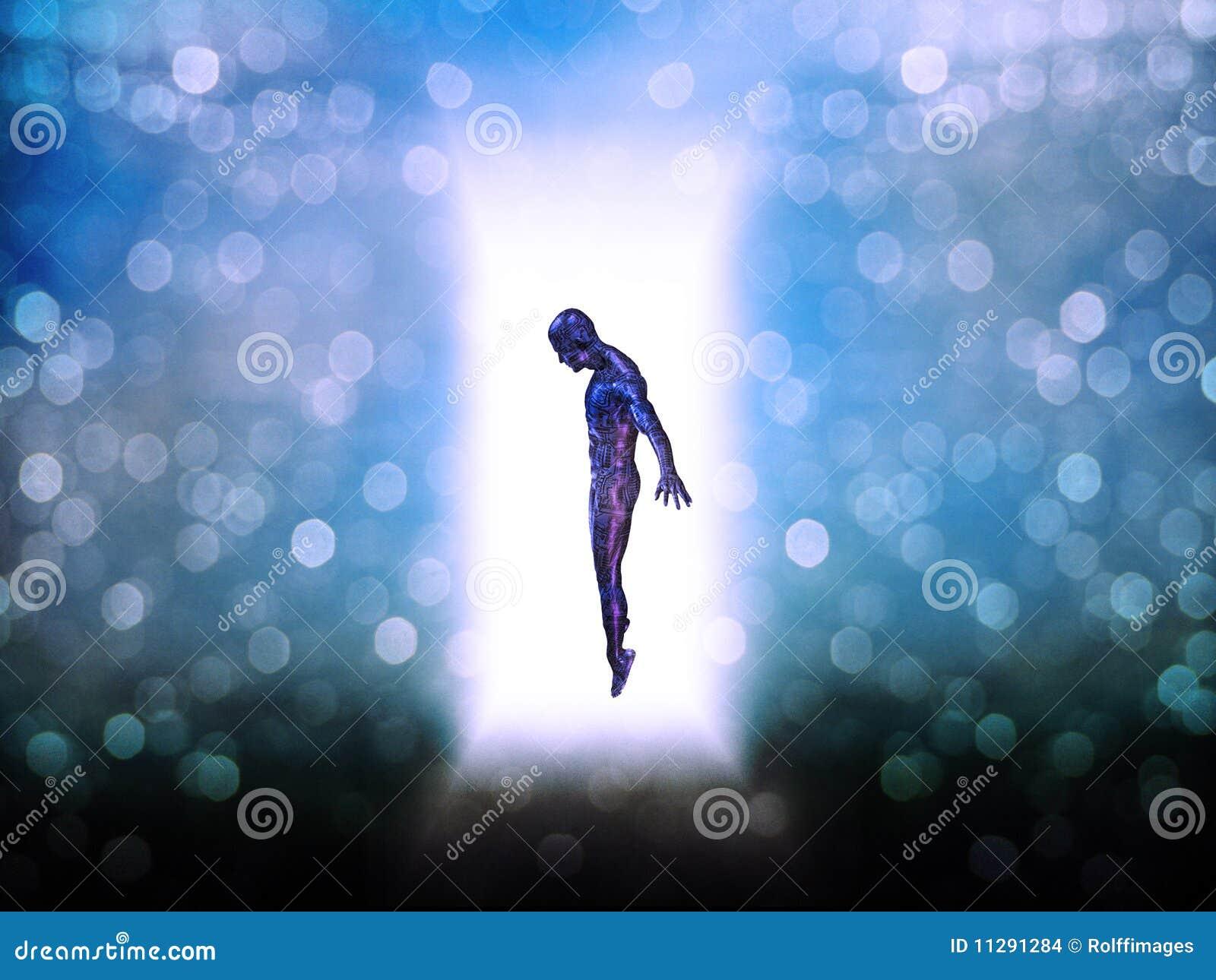 Drzwiowa postać światło