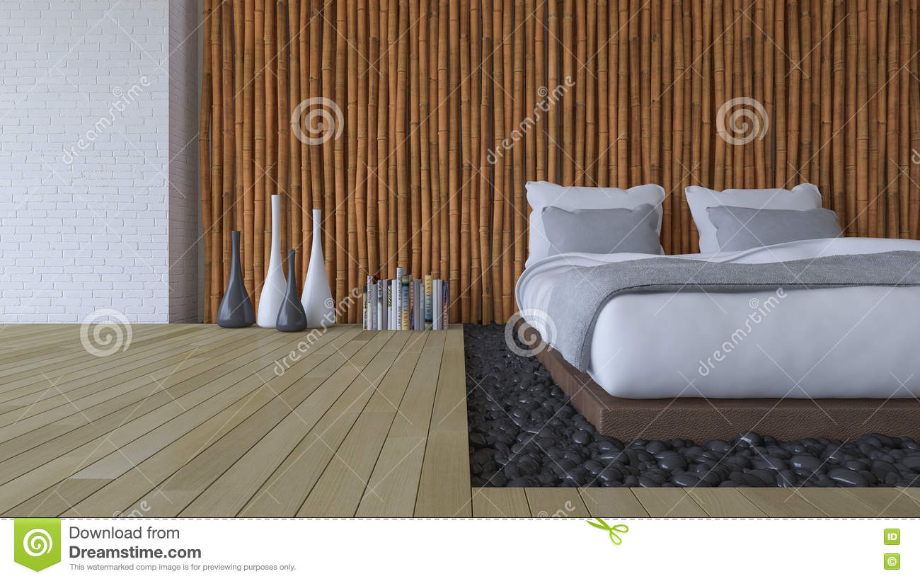 3ds Bed And Bamboo Wall Stock Illustration Illustration Of Ceramic 80106651