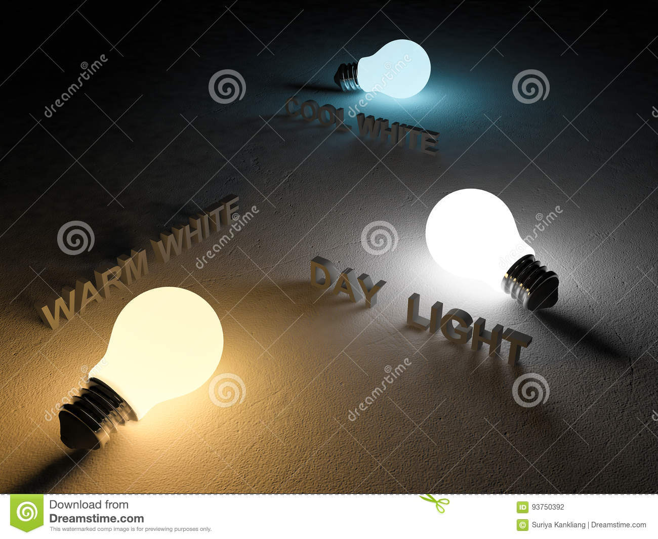 3ds Color Temperature Scale Stock Illustration Illustration Of