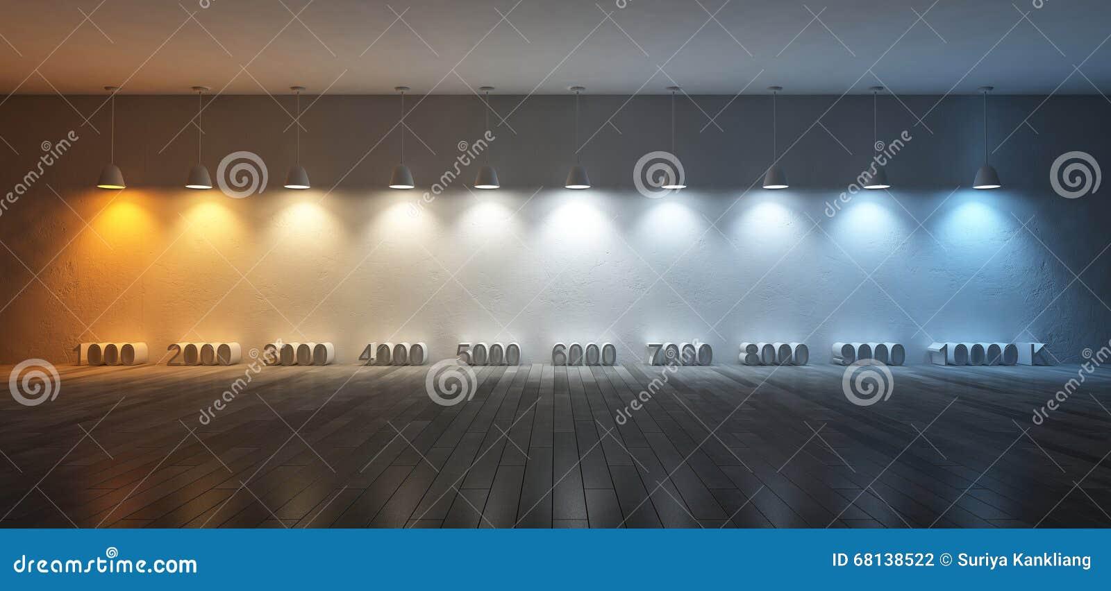 Kelvin Light Scale >> 3Ds Color Temperature Scale Stock Photo - Image: 68138522
