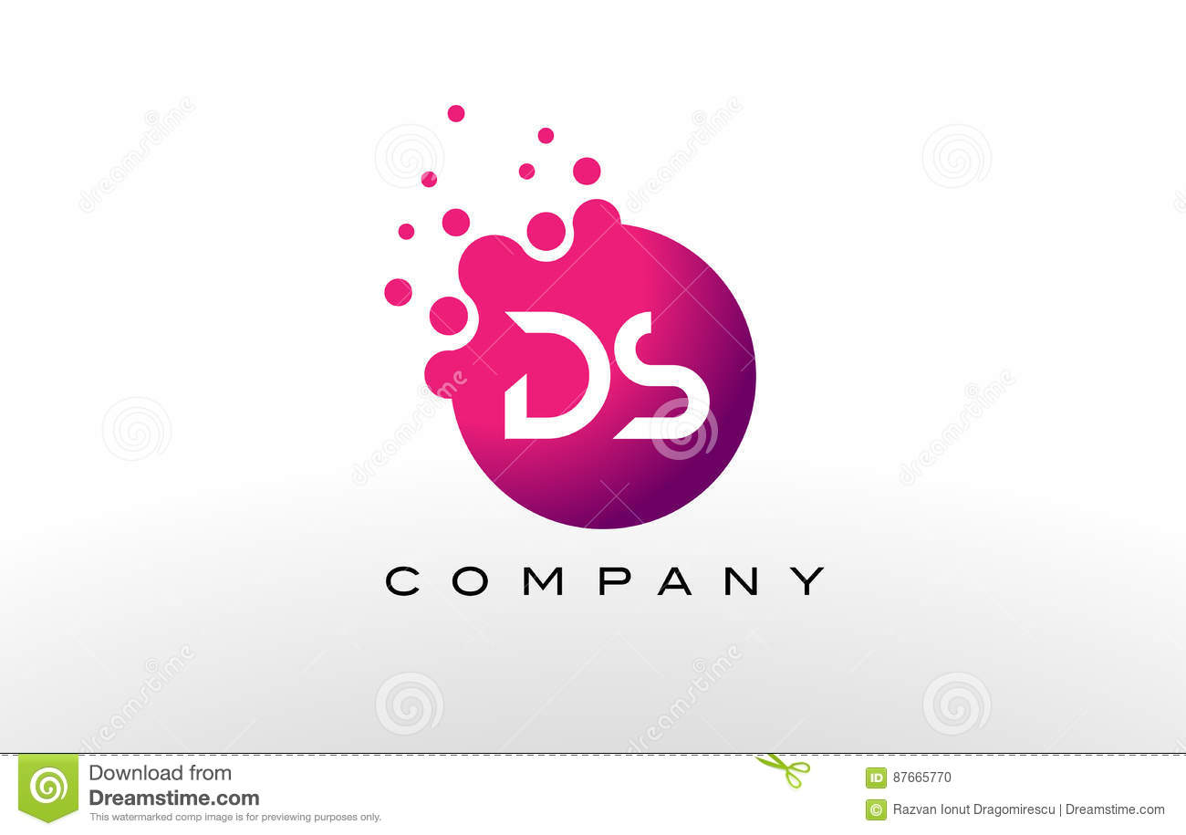 Ds Letter Logo Design Creative Modern Trendy Typography Stock ...
