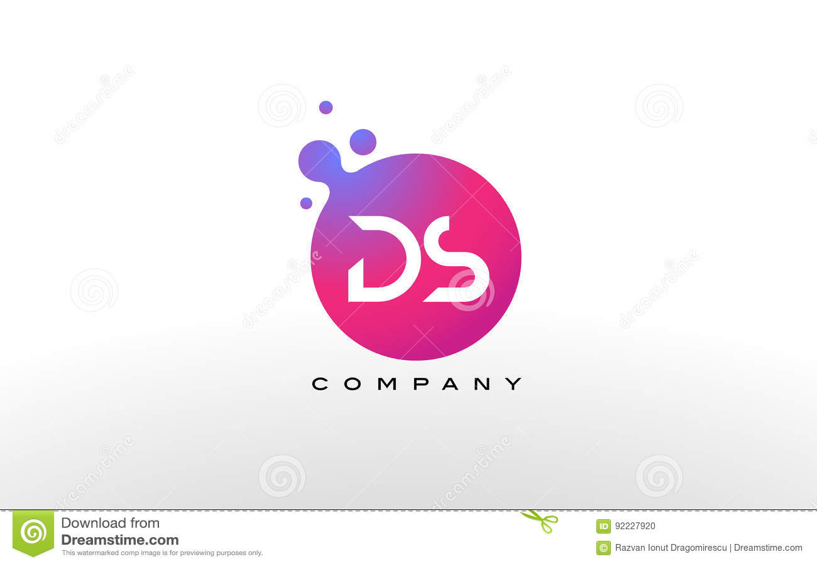 Ds Letter Logo Design Creative Modern Trendy Typography Stock ...